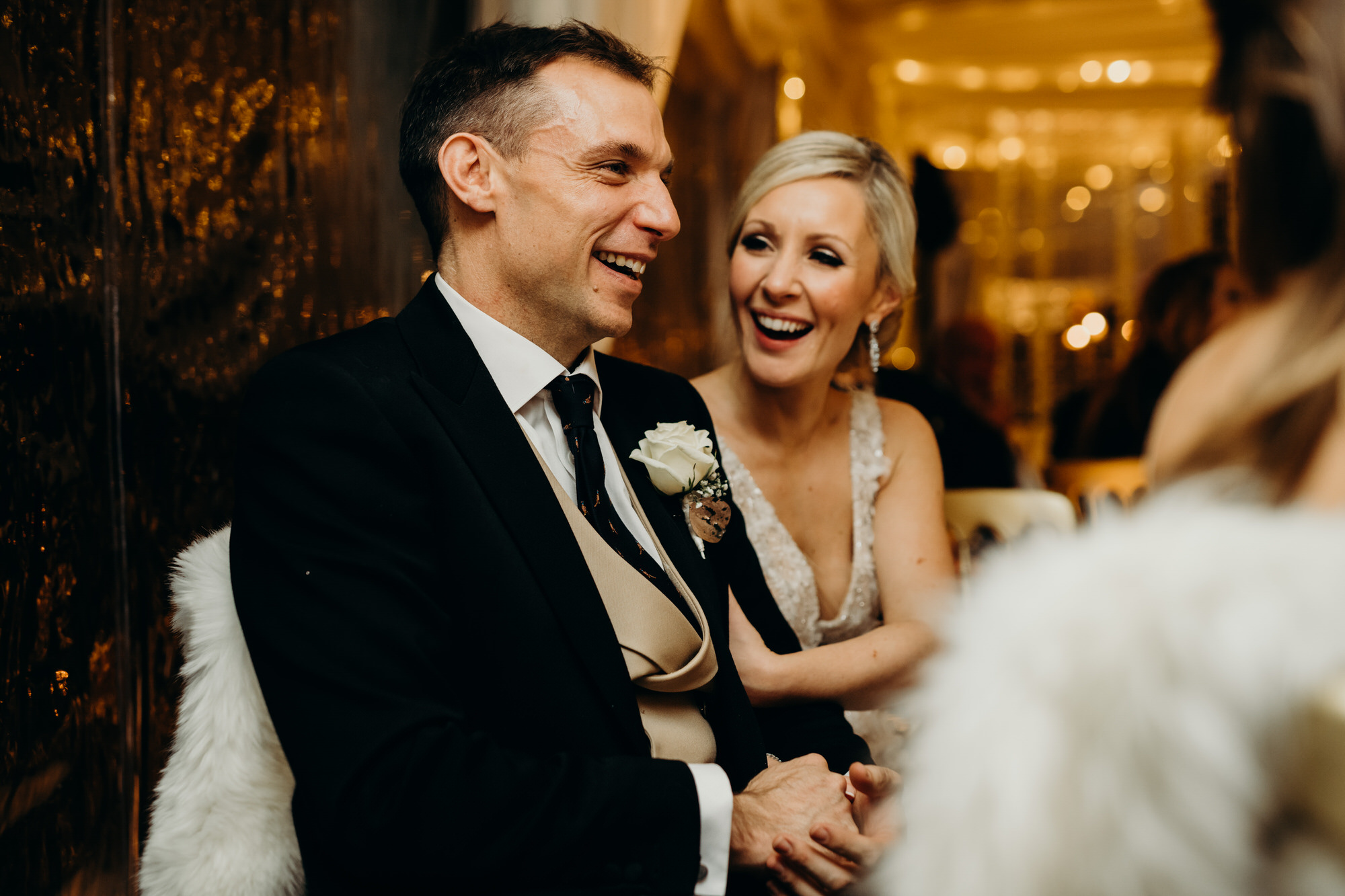 newlyweds at glasgow wedding