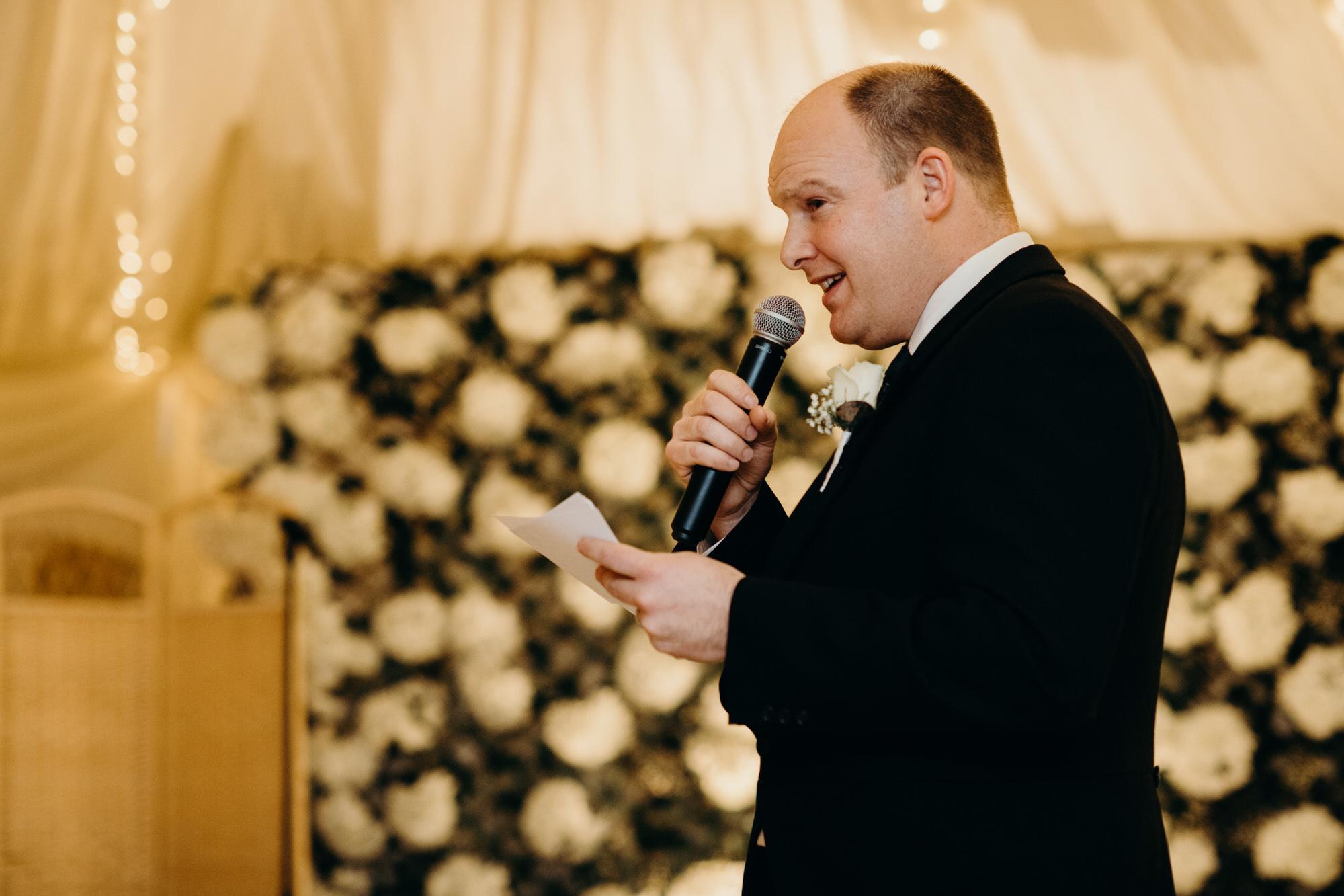 Speech from best man