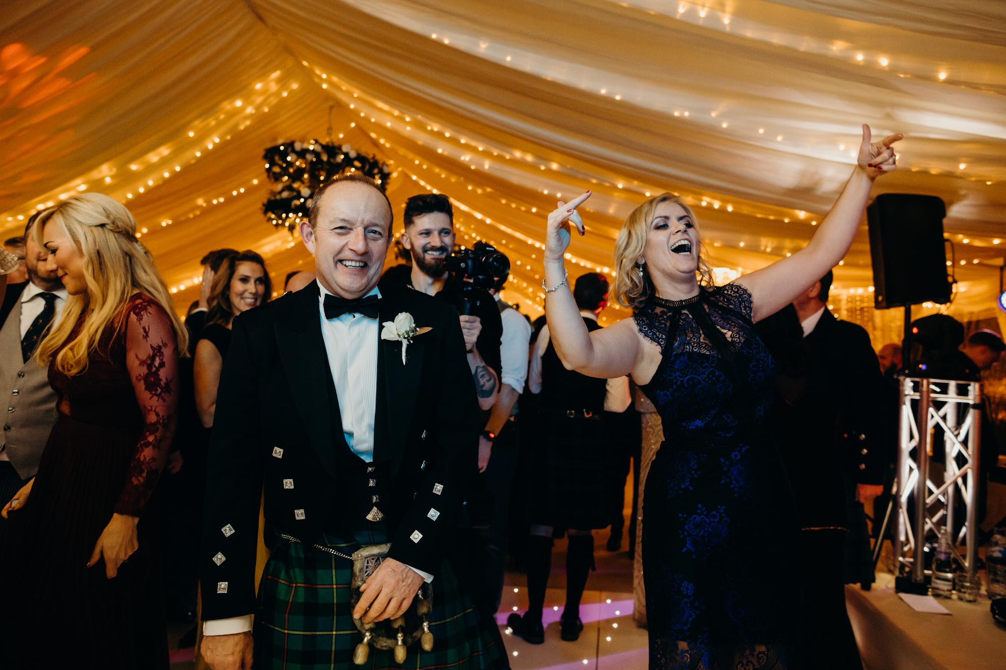 Dancing at Duntreath wedding