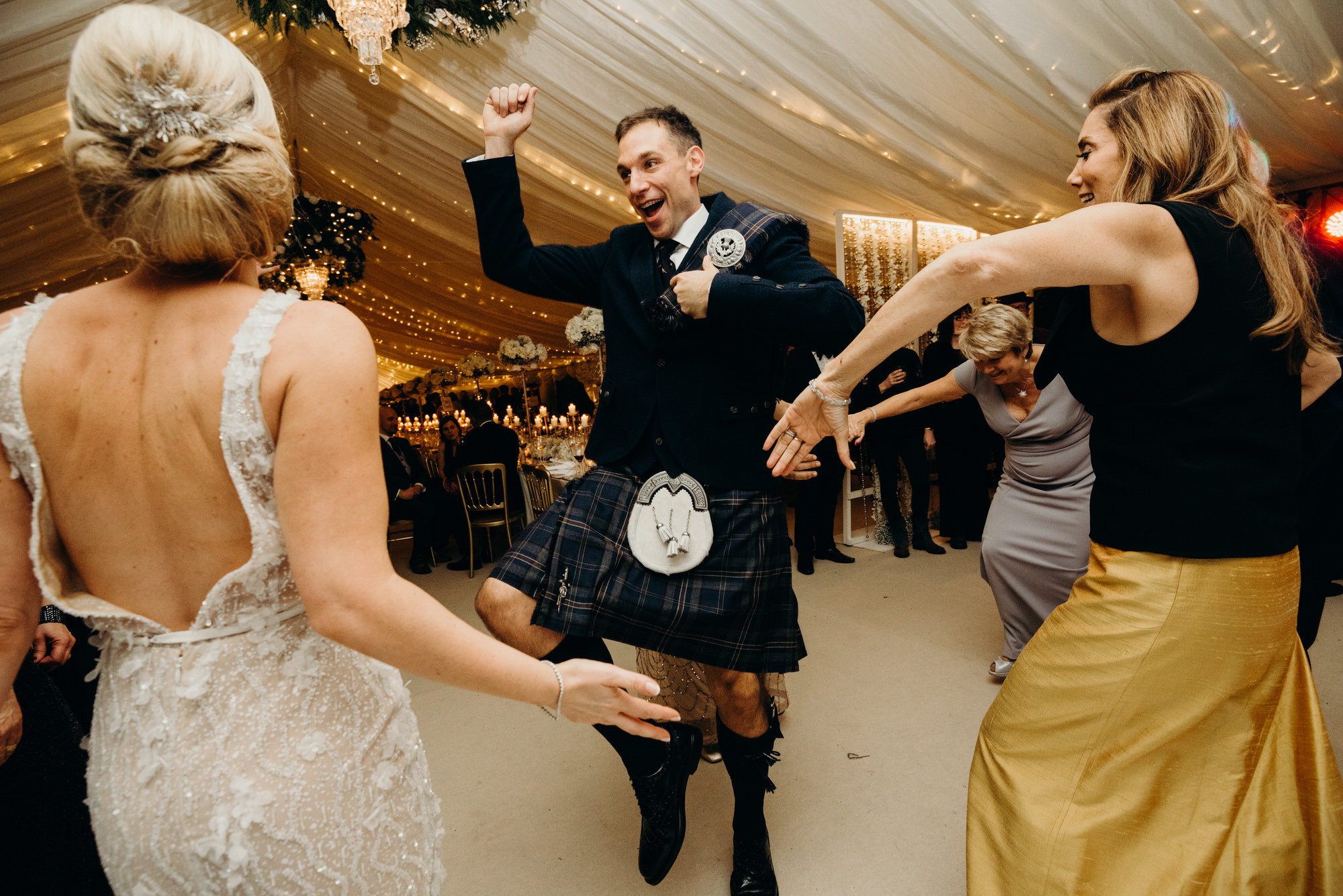Dancing at Duntreath Castle