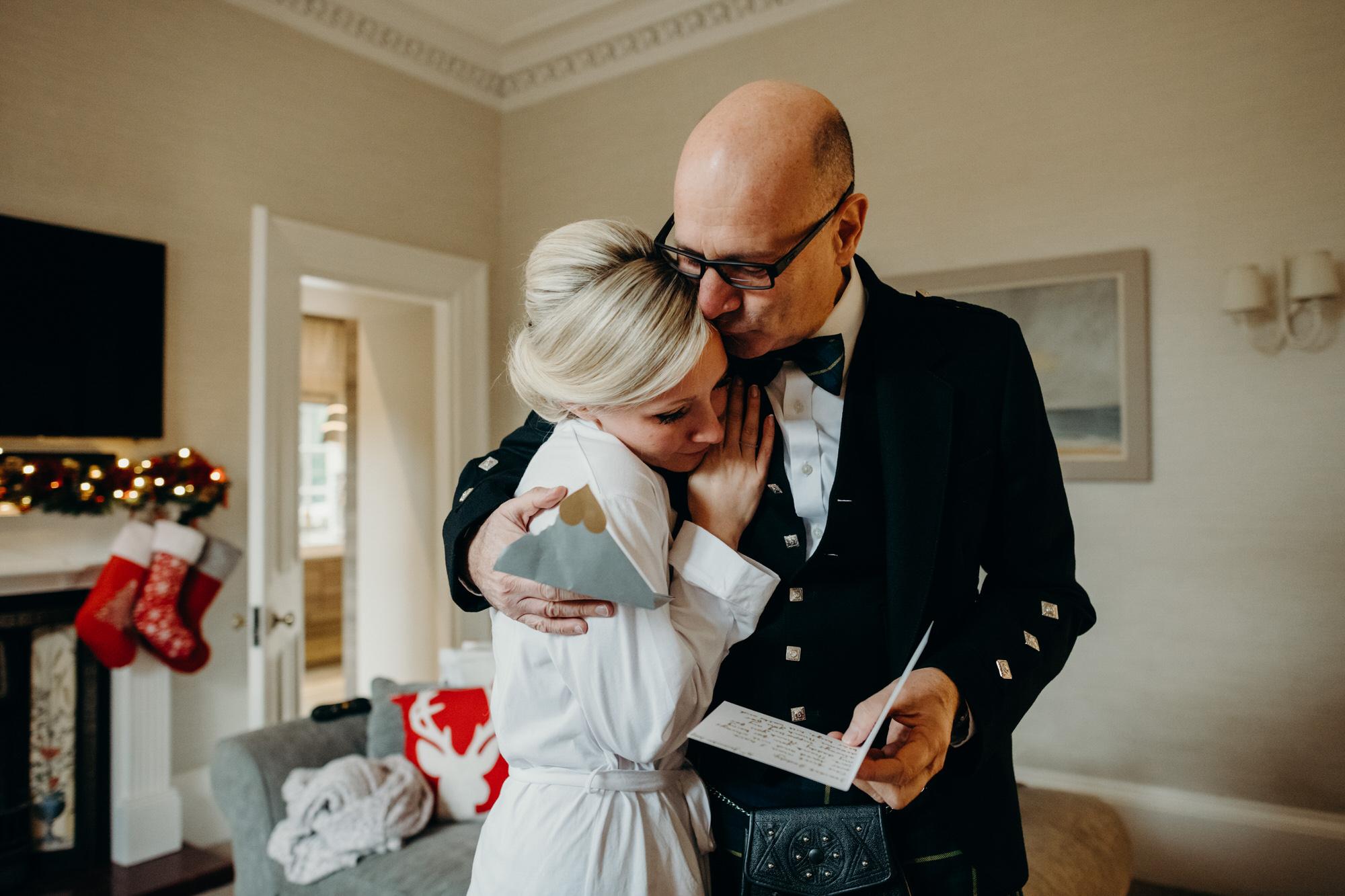 Bride and father Glasgow wedding
