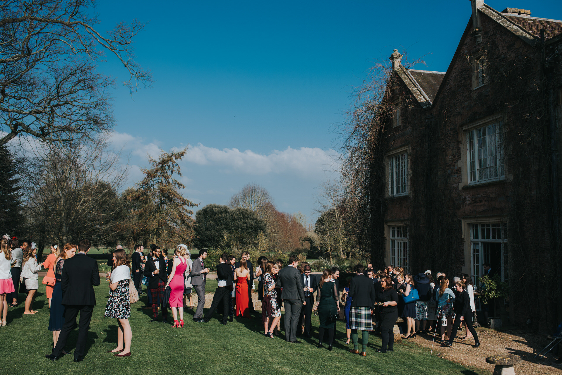 Manusel House wedding on lawn
