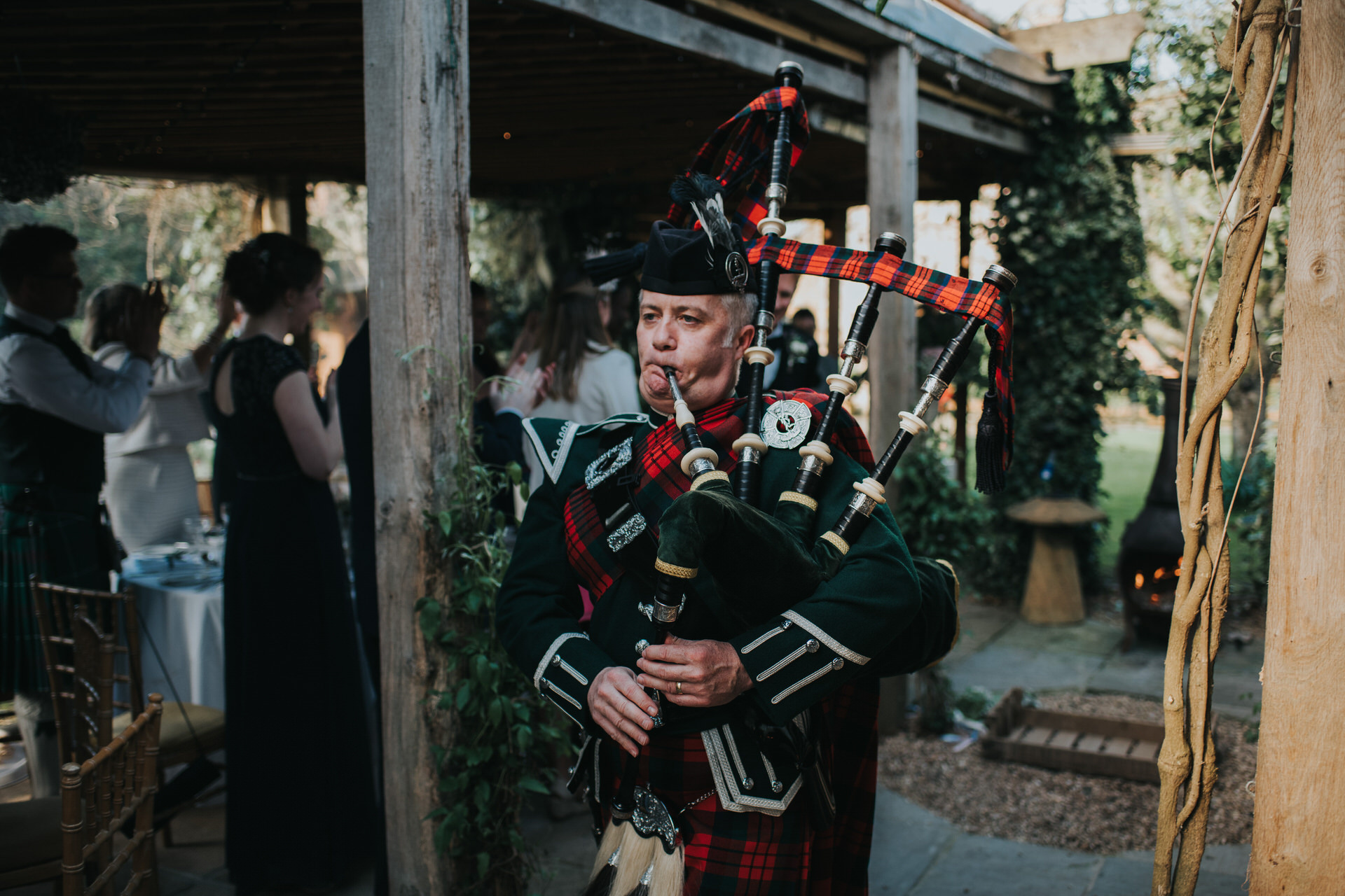 Bagpiper Maunsel House