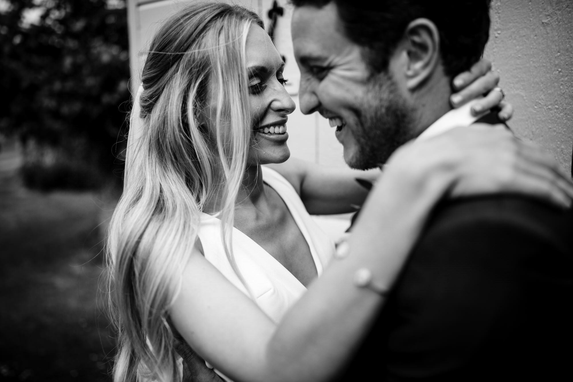 Newlyweds in love