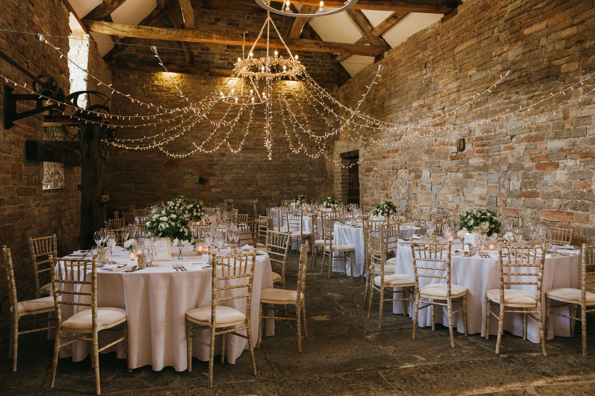 Almonry Barn wedding venue inside