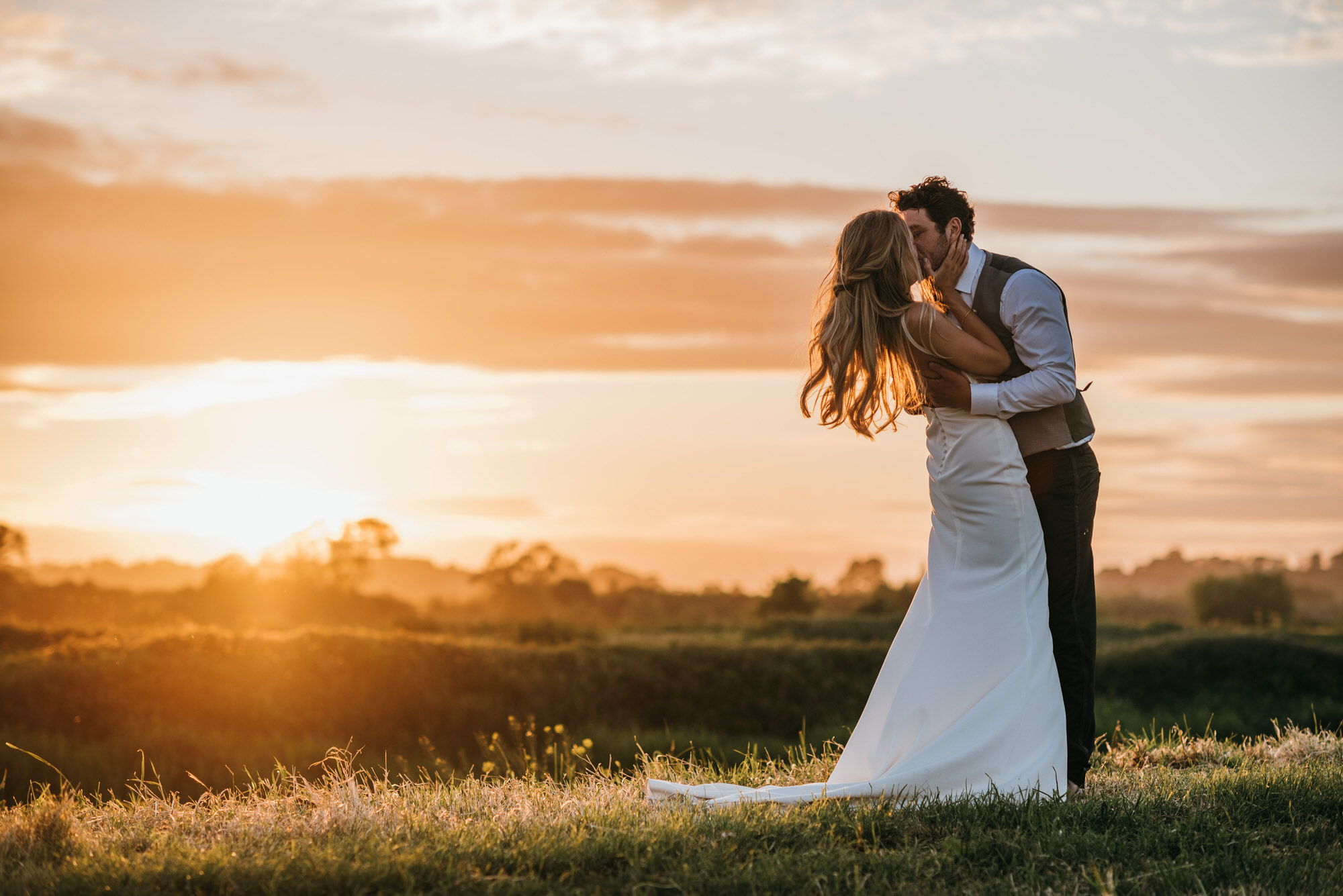 Sunset kiss at Almonry Barn
