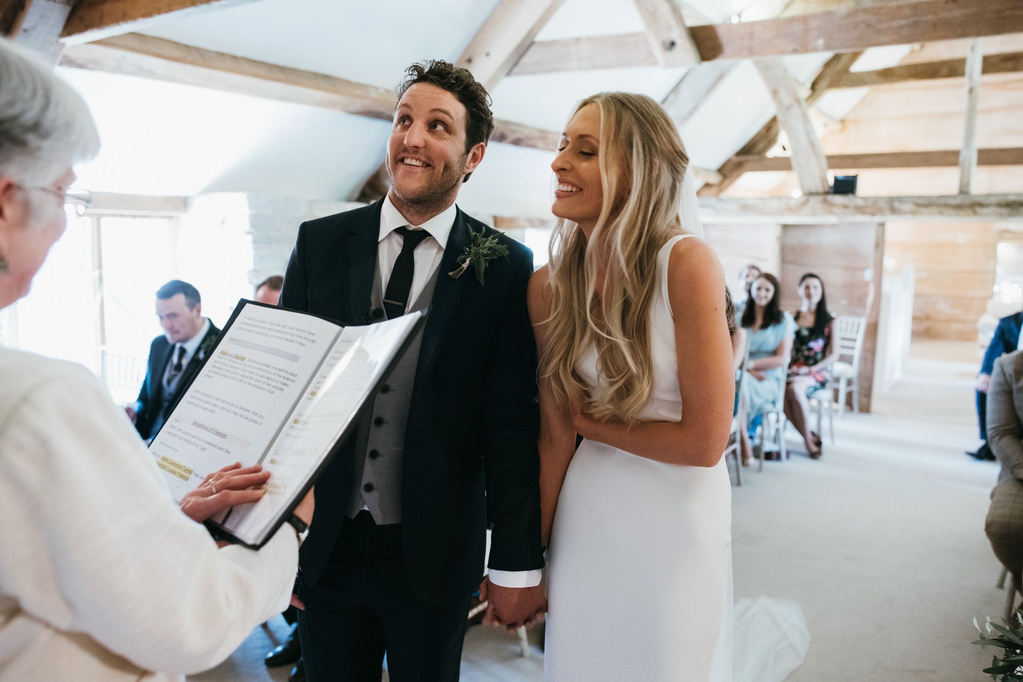 Almonry Barn wedding ceremony