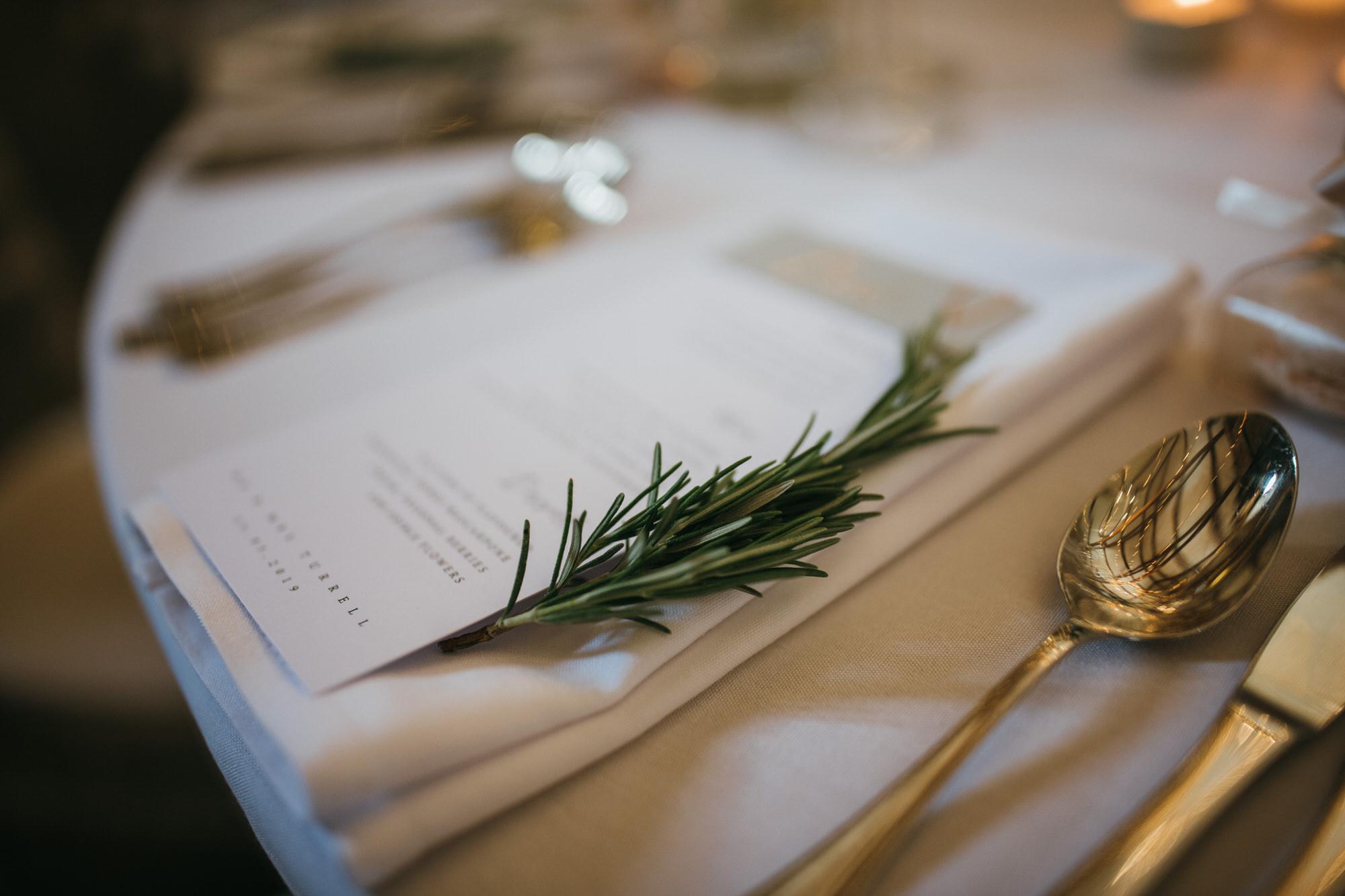 Lavender table favour