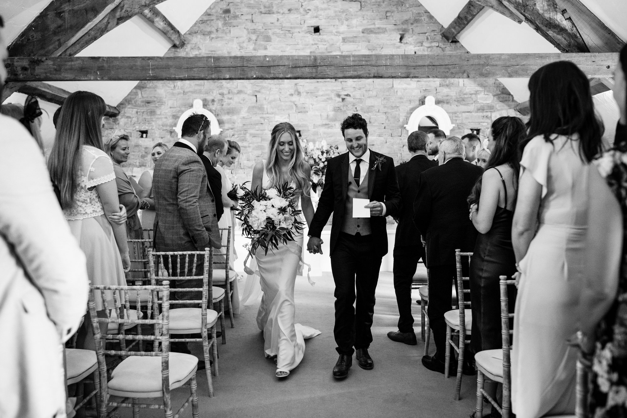 Just married at Almonry Barn