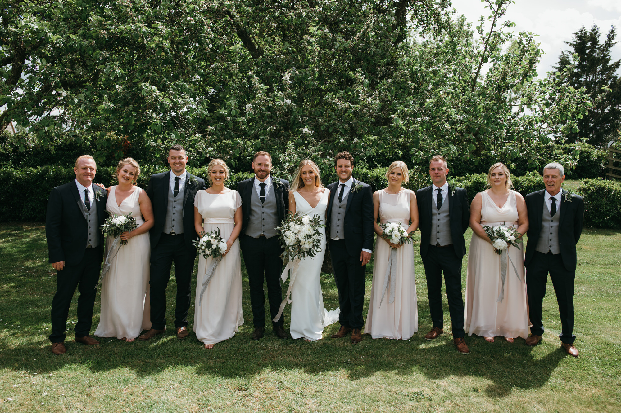 Almonry Barn wedding group shot