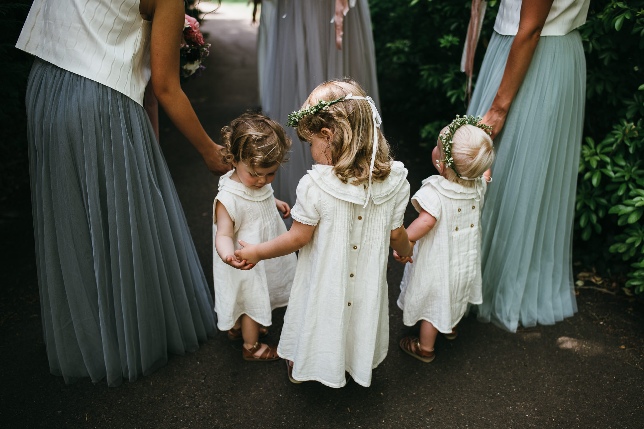 Flowergirls in Laure de Sagazan dresses