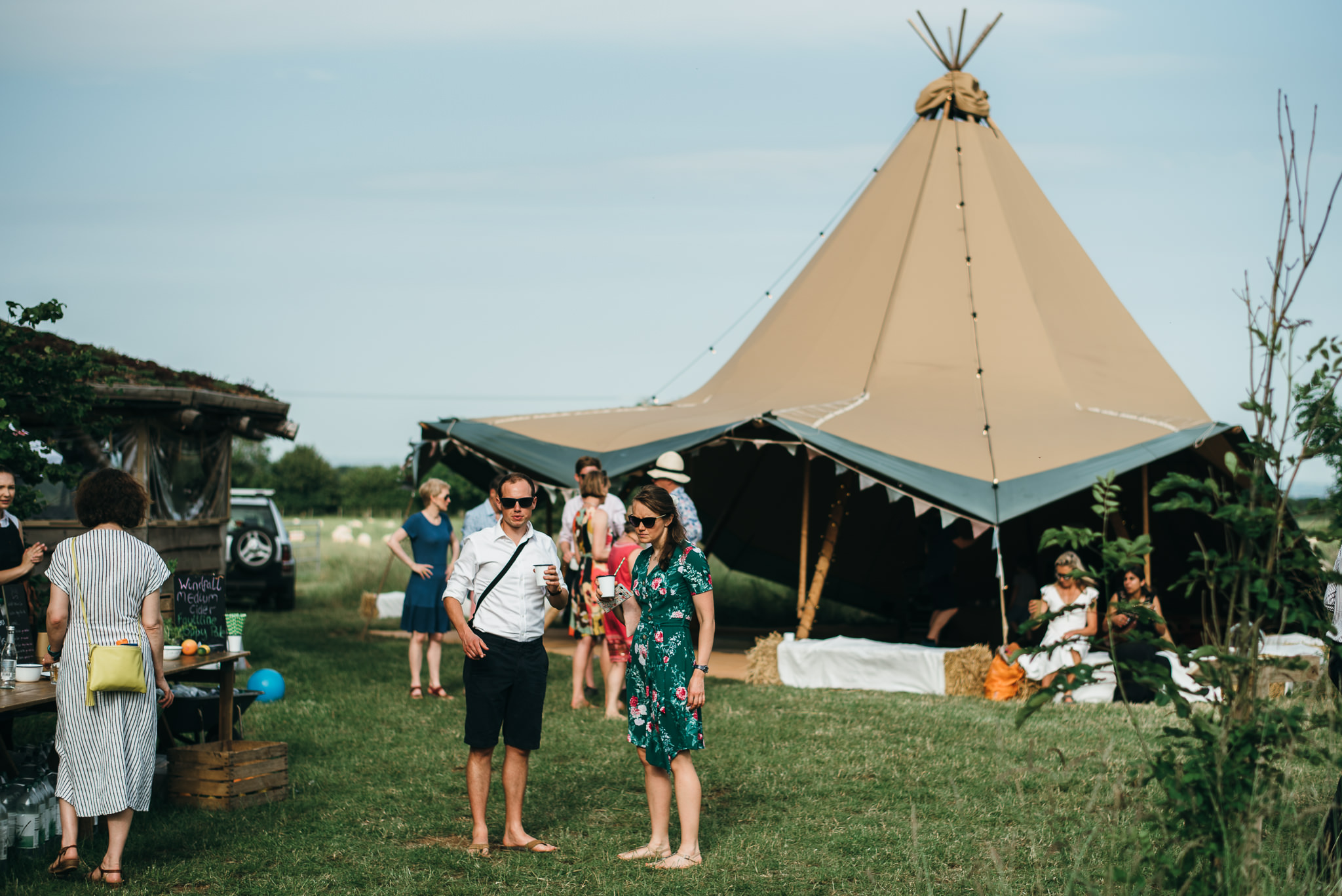 Tipi Farm Camp Bath wedding