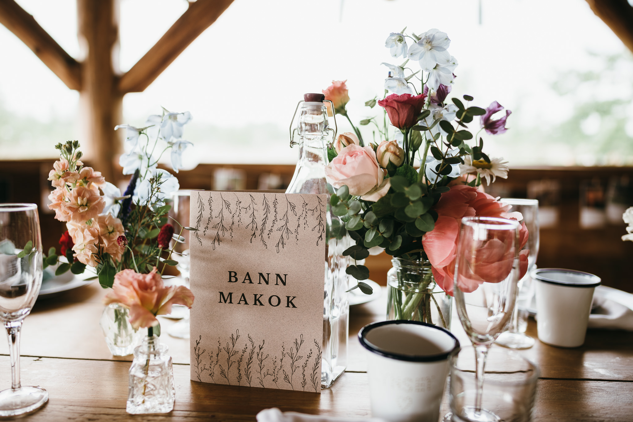Farm camp wedding details