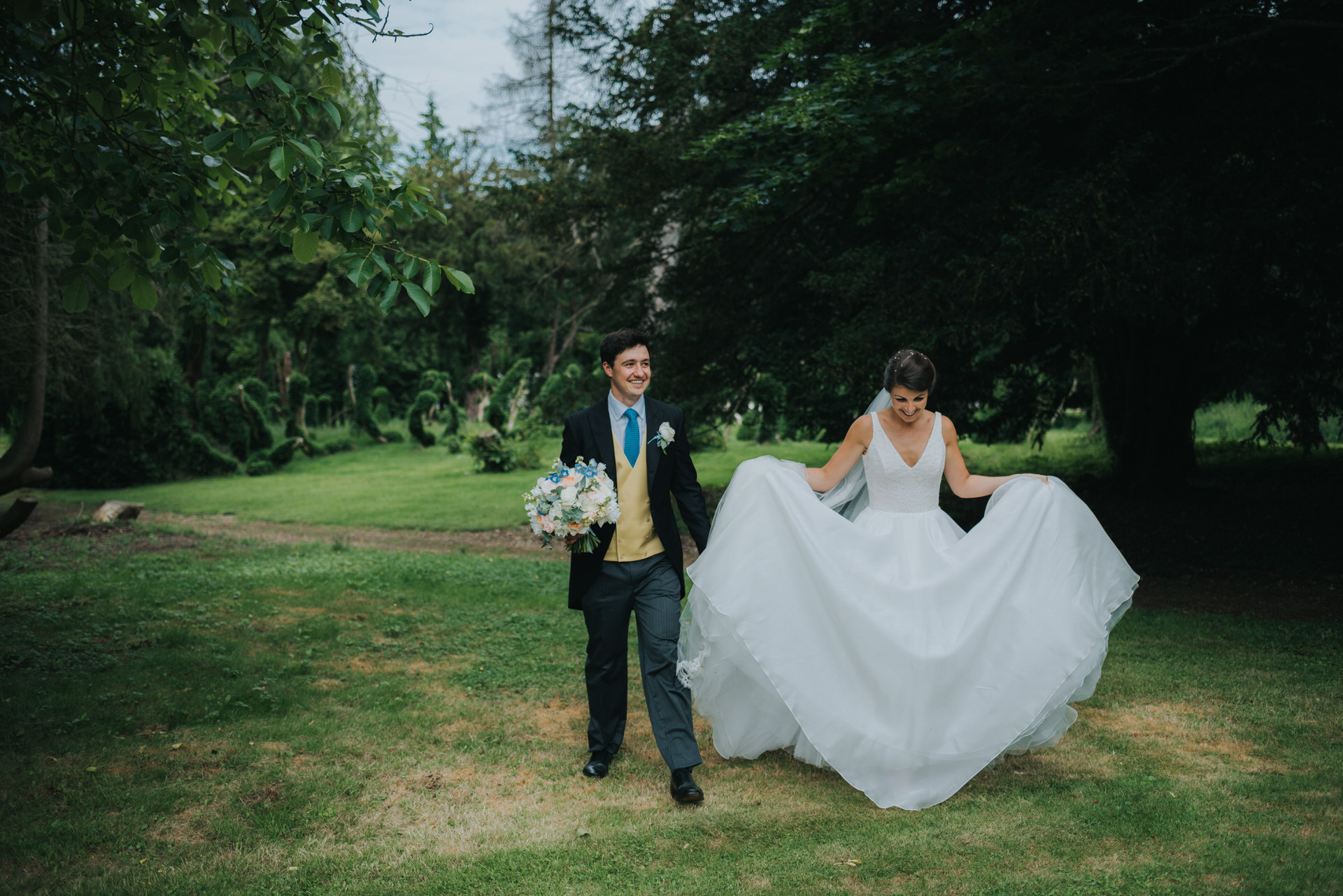 Oakley Hall Bride and Groom