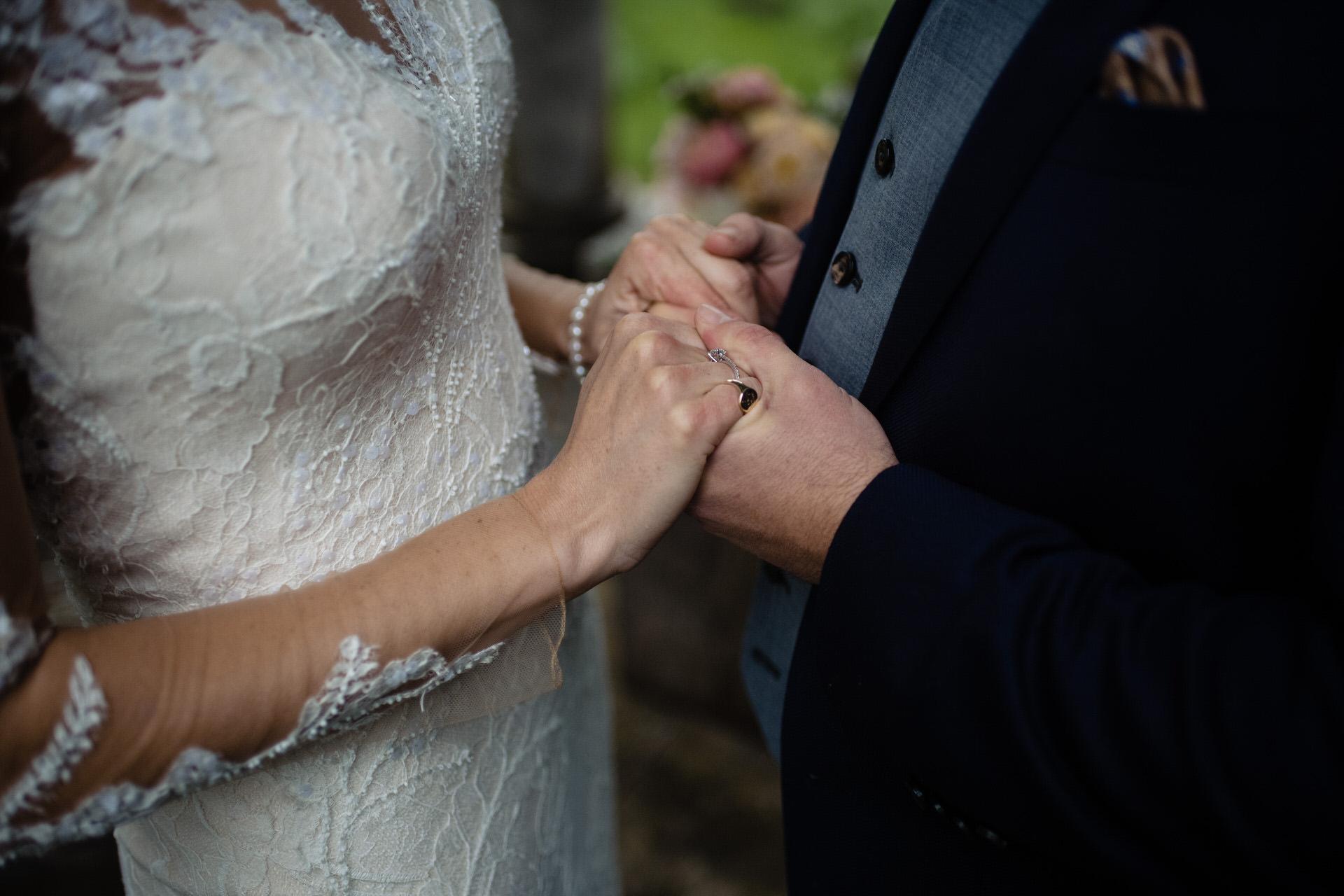Bignor park wedding bride and groom 14