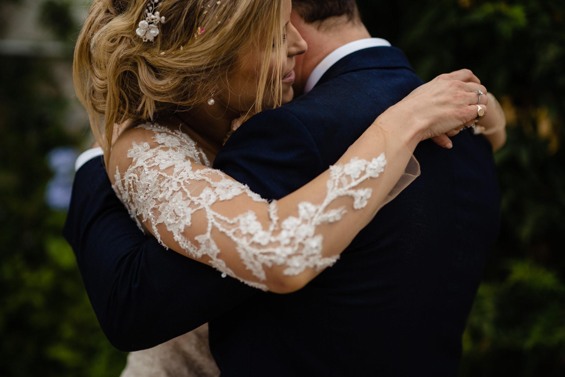Bignor park wedding bride and groom