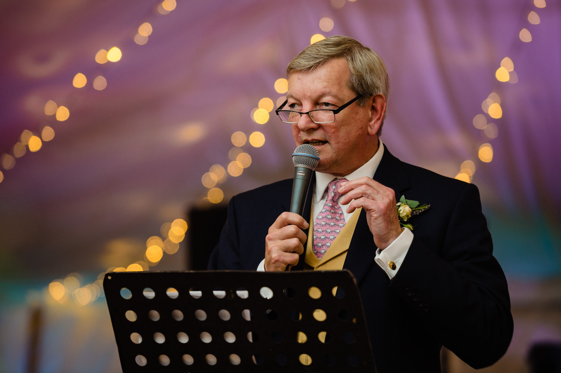 Bignor park speeches at wedding