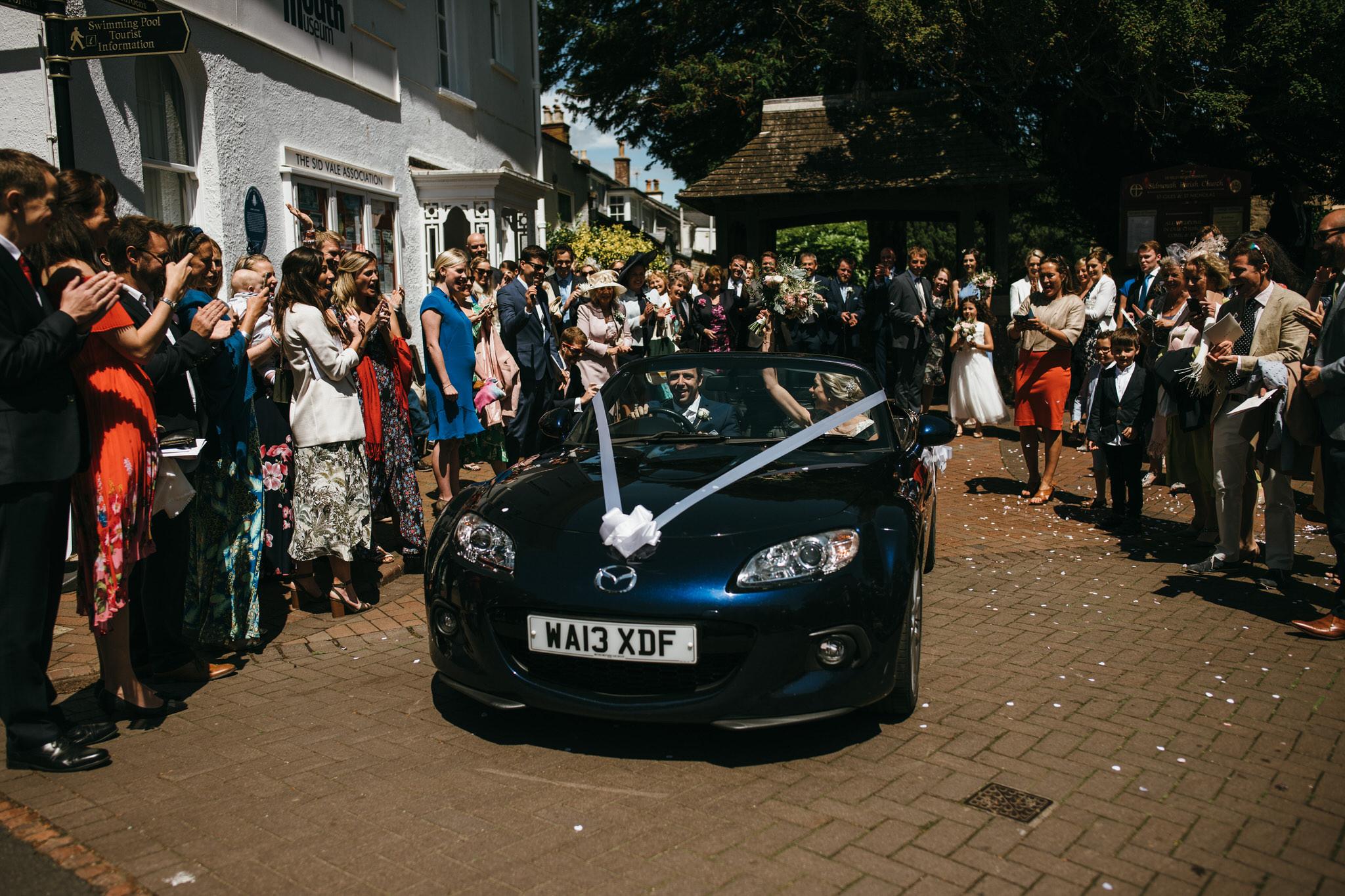Wedding car getaway