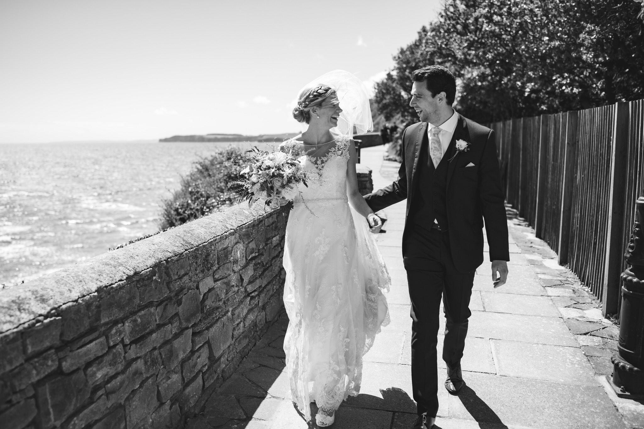 Newlywed couple in Devon