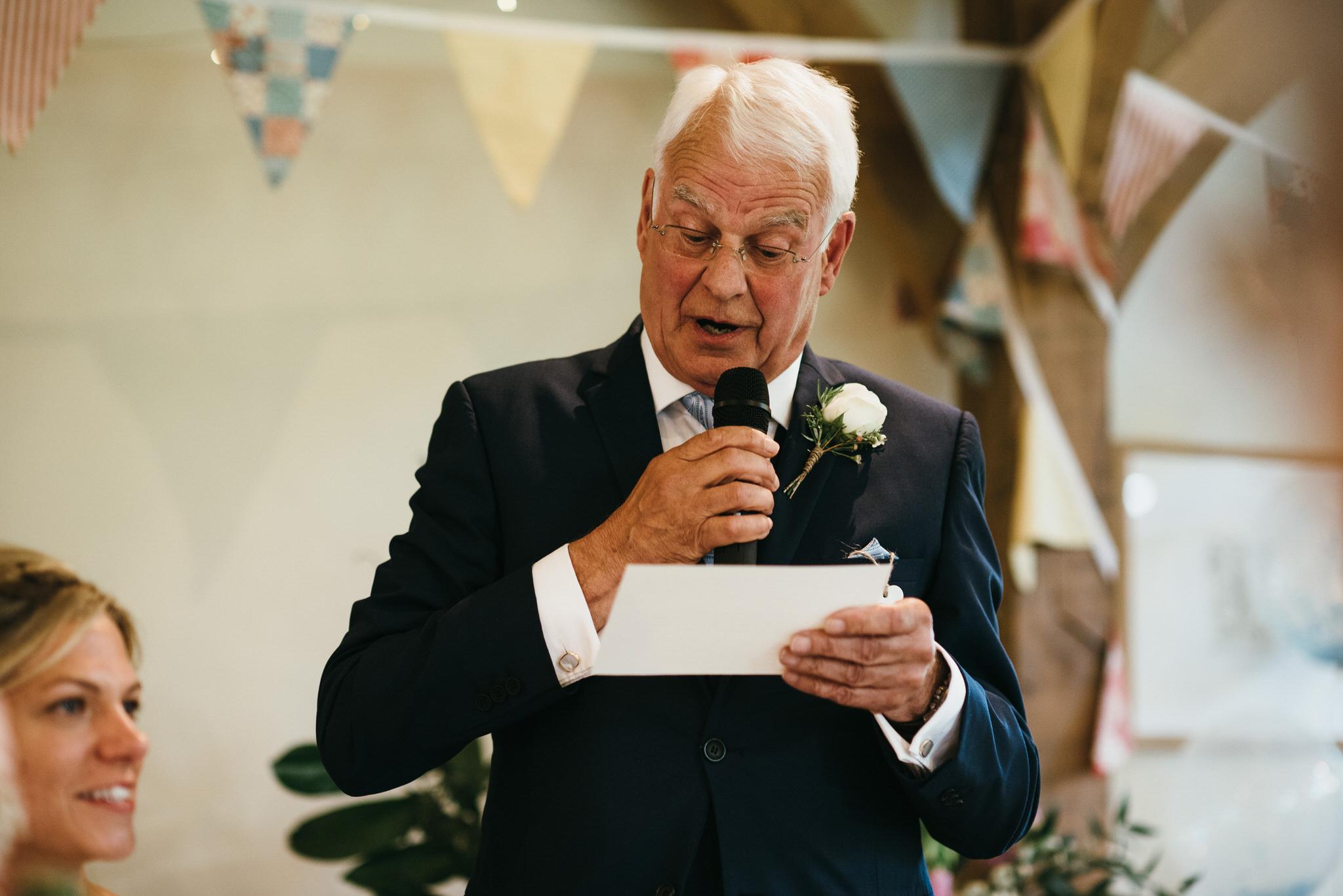 Froginwell wedding speeches