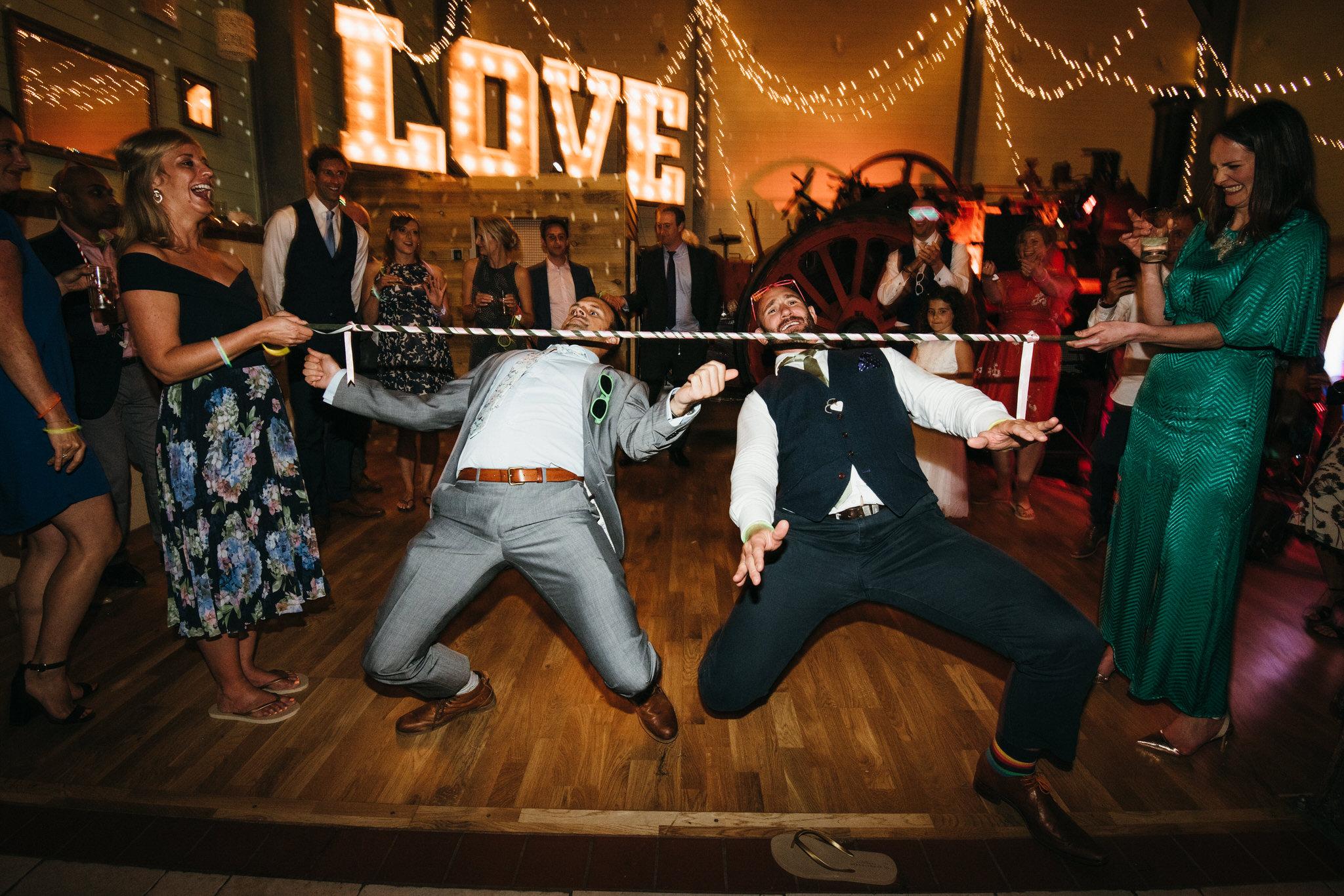 Guests dancing at Froginwell Vineyard