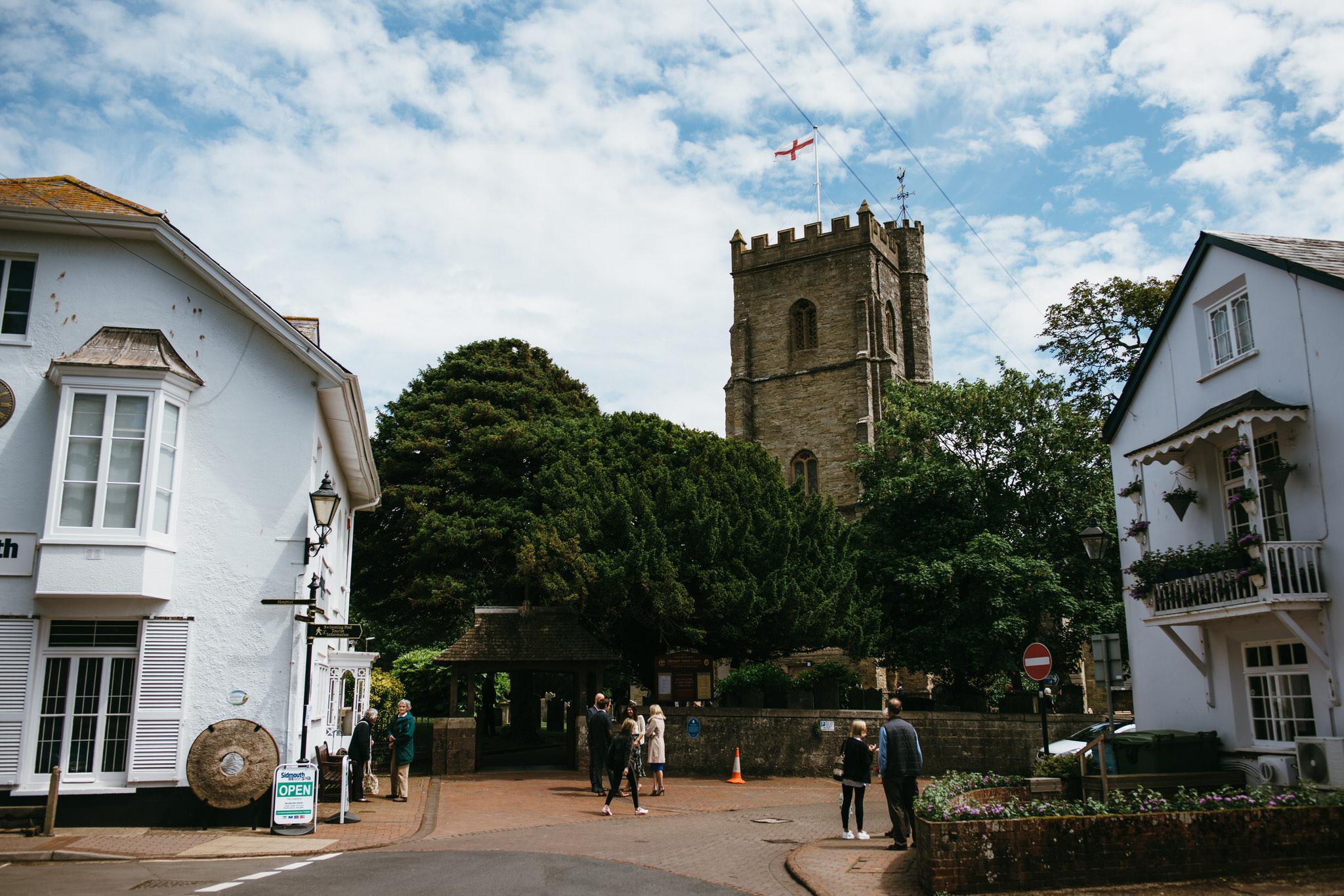 Sidmouth church wedding photographer