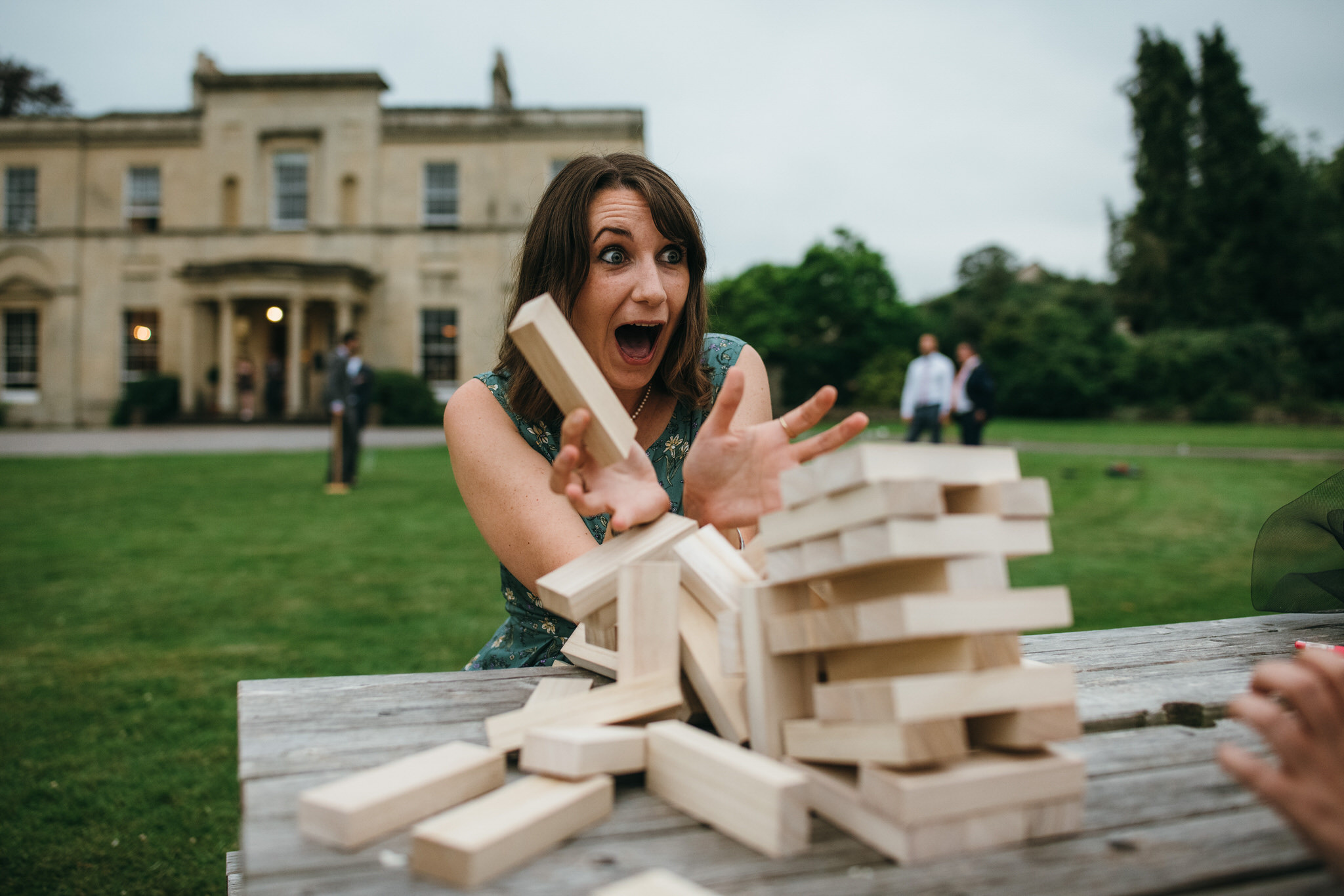 Games at Backwell house wedding
