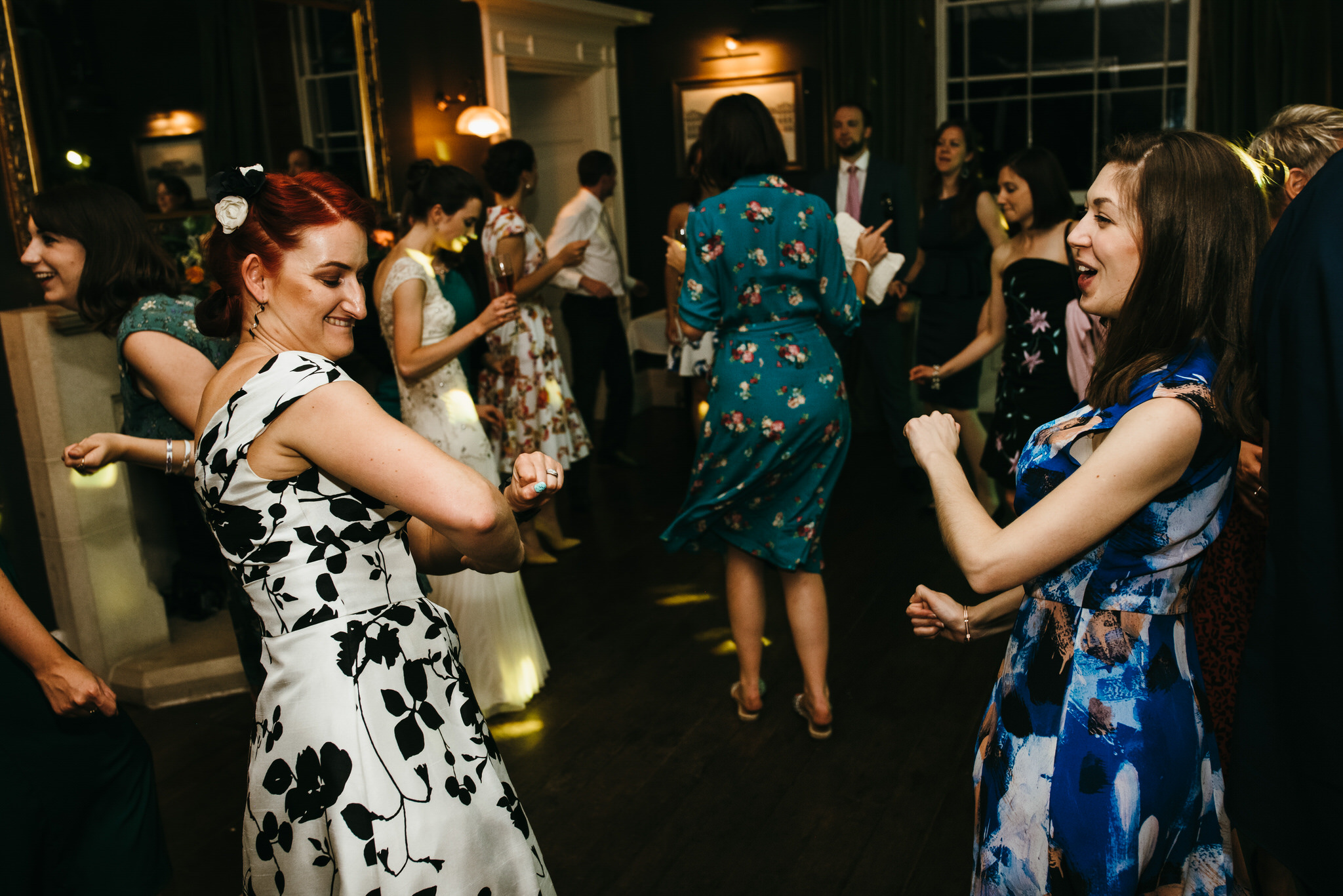 Guest dancing Backwell house wedding