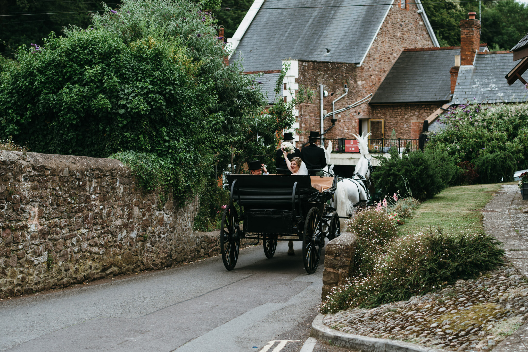 Horse and Carriage Dunster wedding