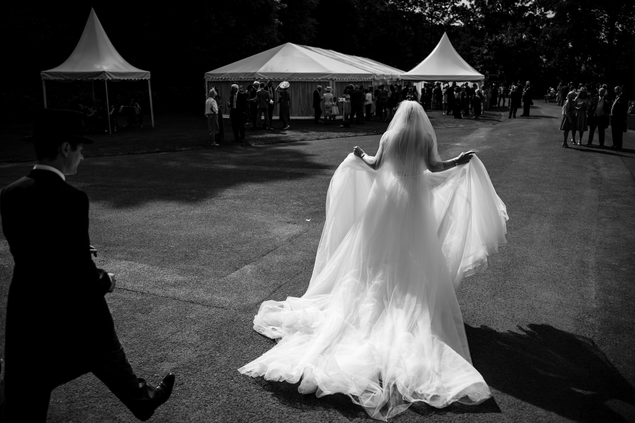 Bride at Dunster castle