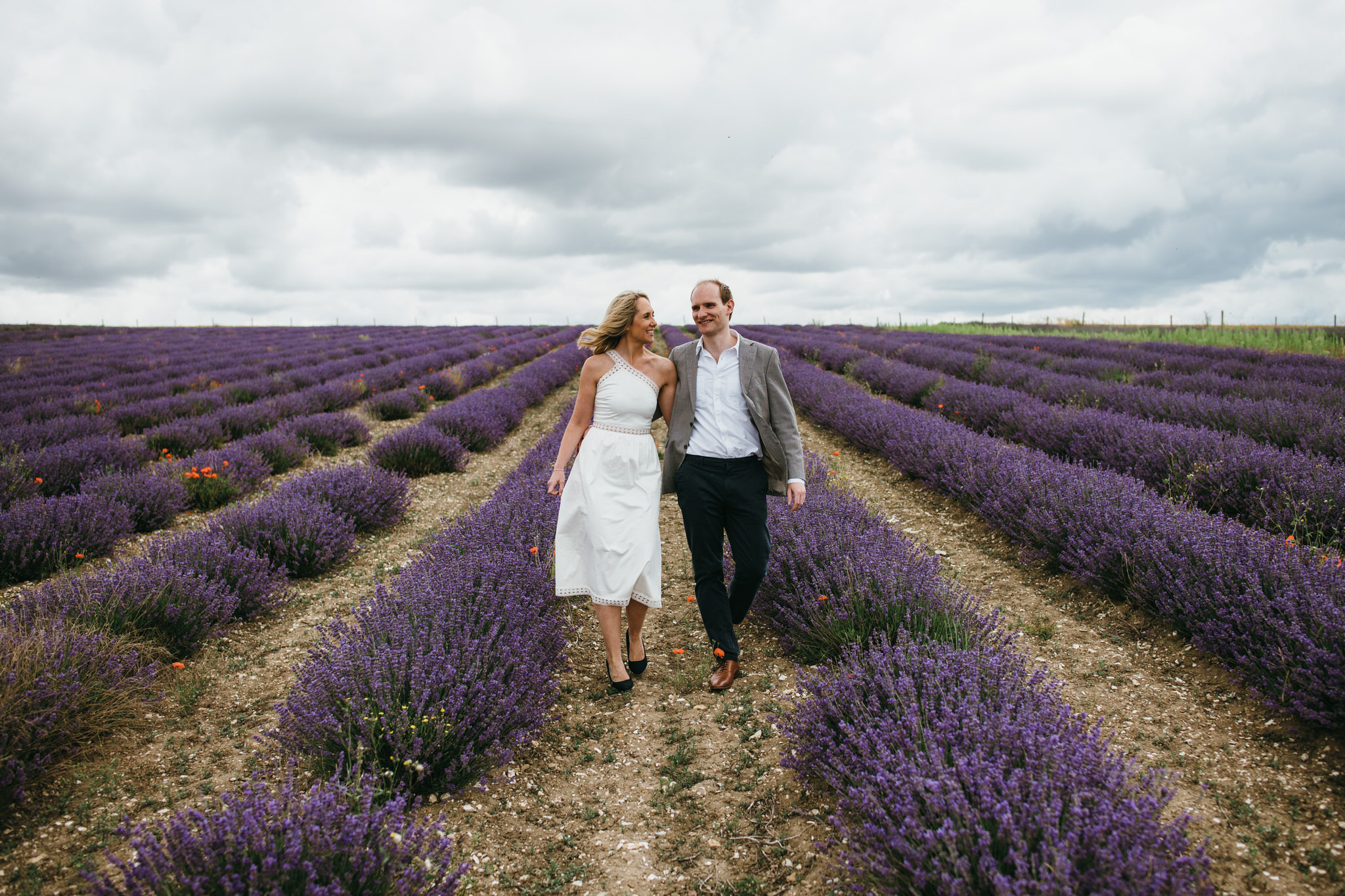 Engagement couple shoot hitchin lavender 14