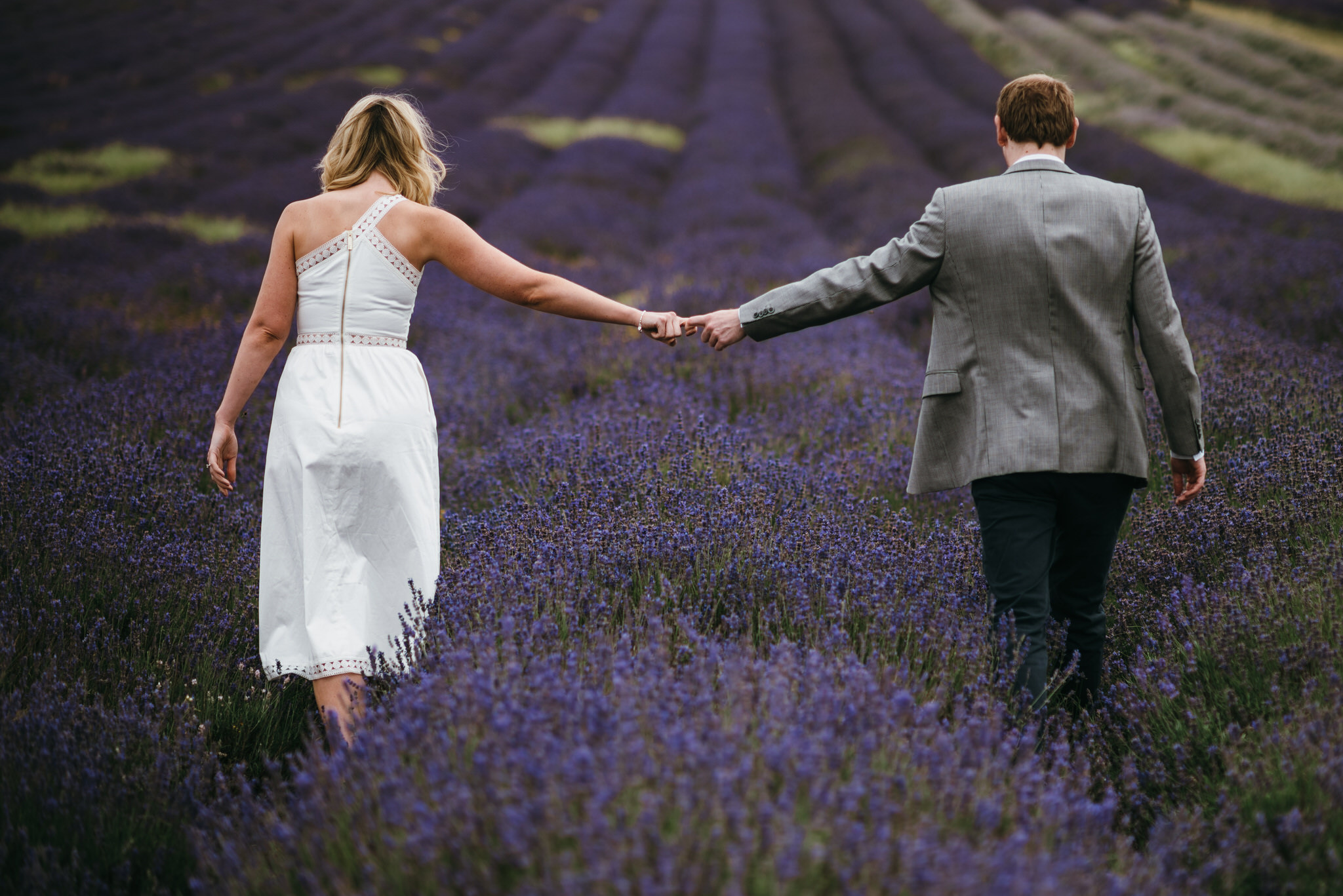 Engagement couple shoot hitchin lavender 6