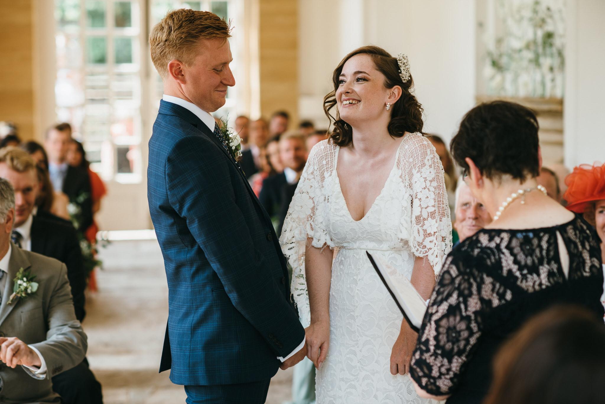 hestercombe wedding ceremony photography
