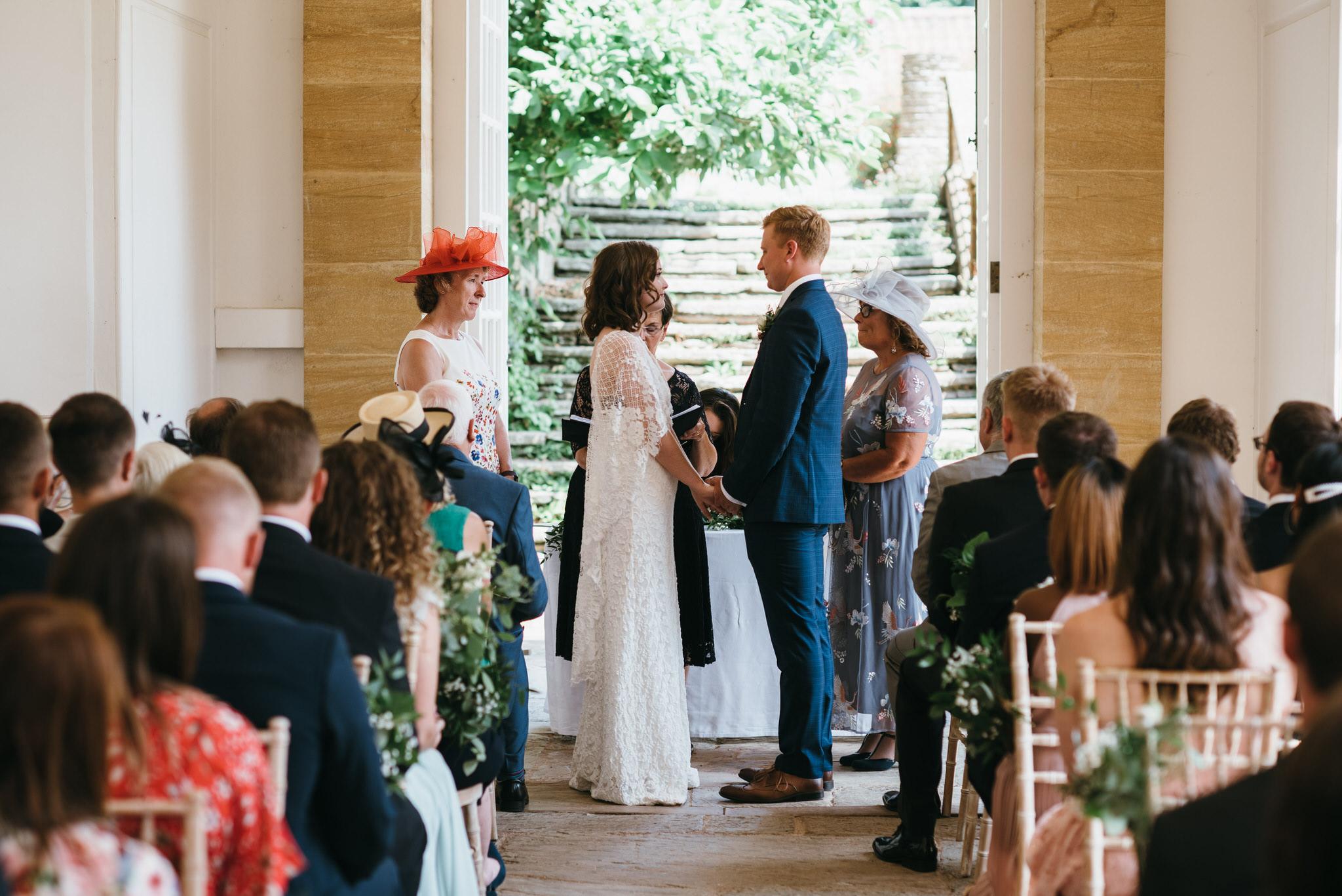 Hestercombe gardens somerset wedding ceremony