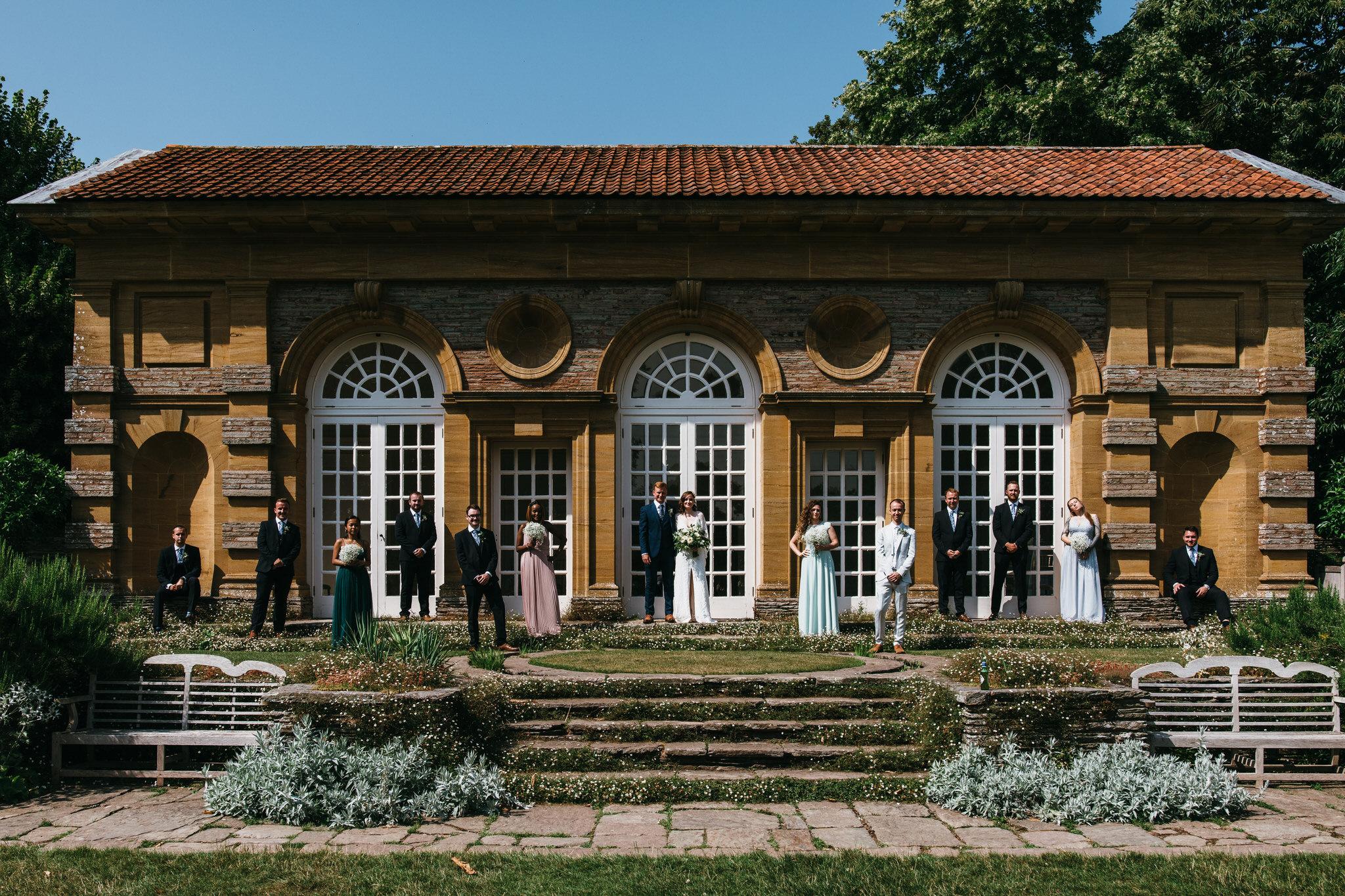 Hestercombe gardens wedding somerset