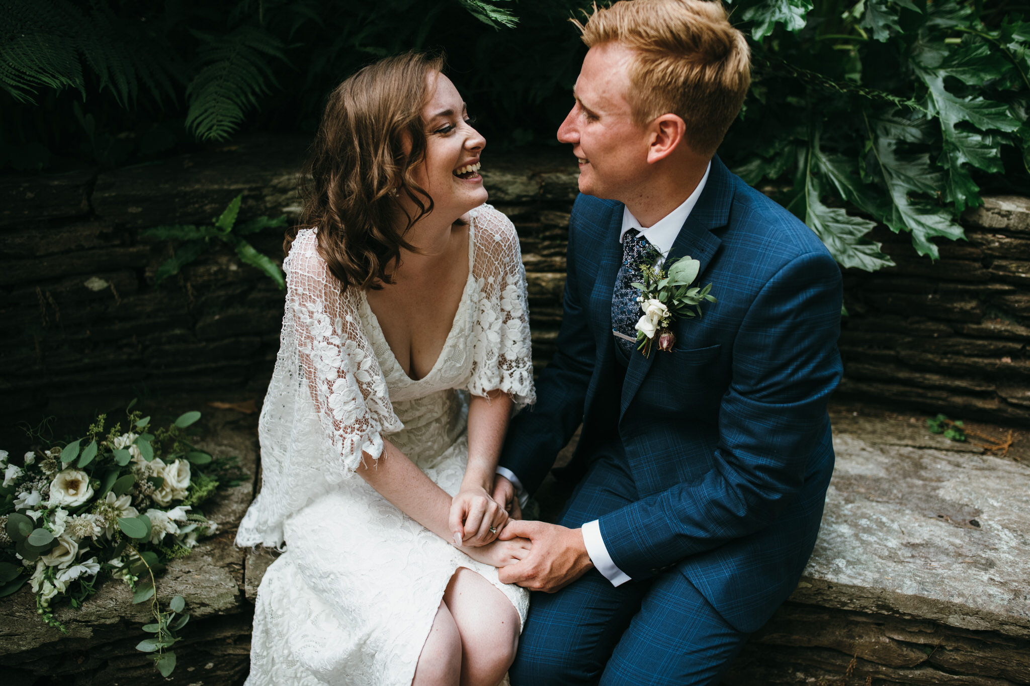Newlyweds at Hestercombe Gardens