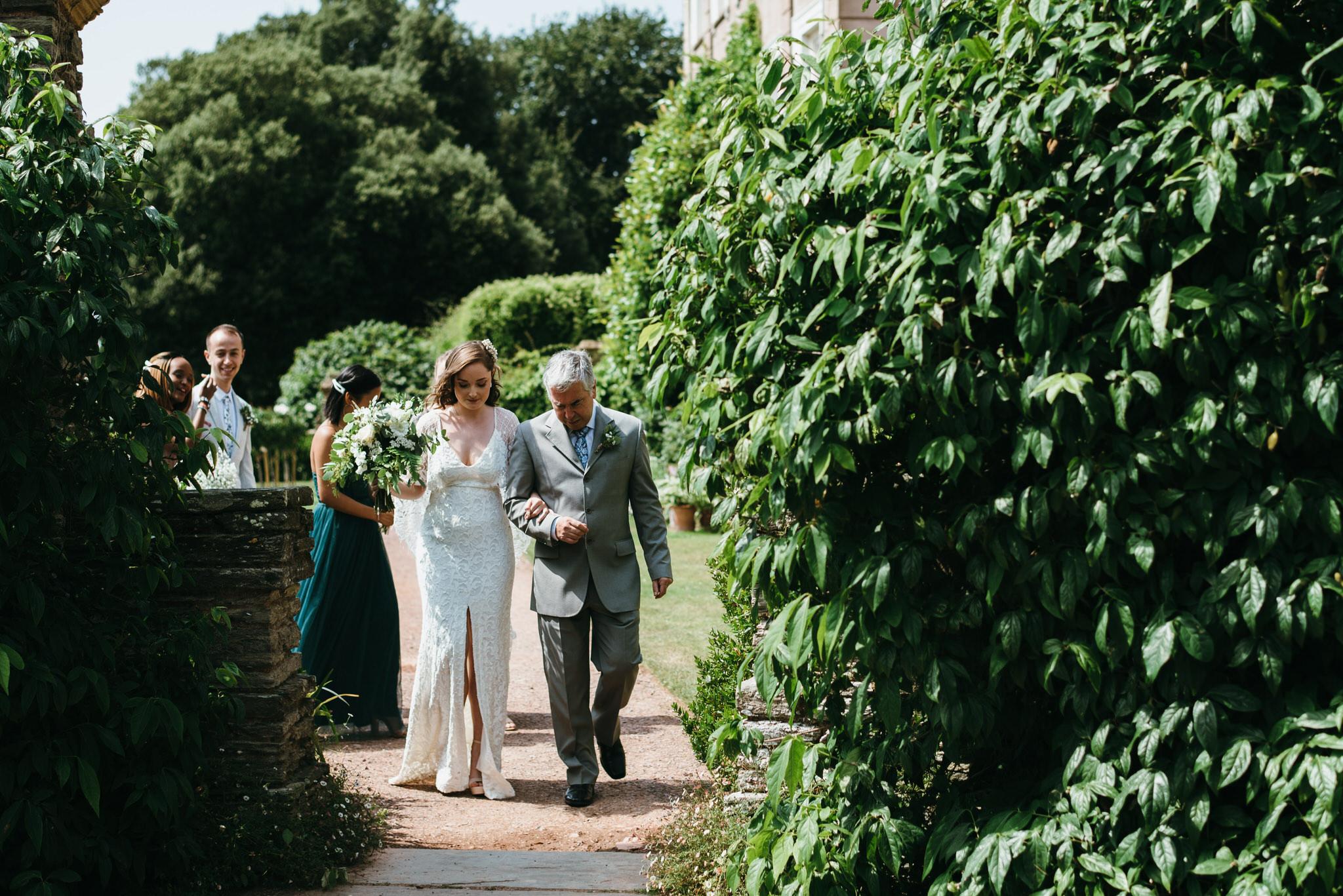 Bride at Hestercombe gardens