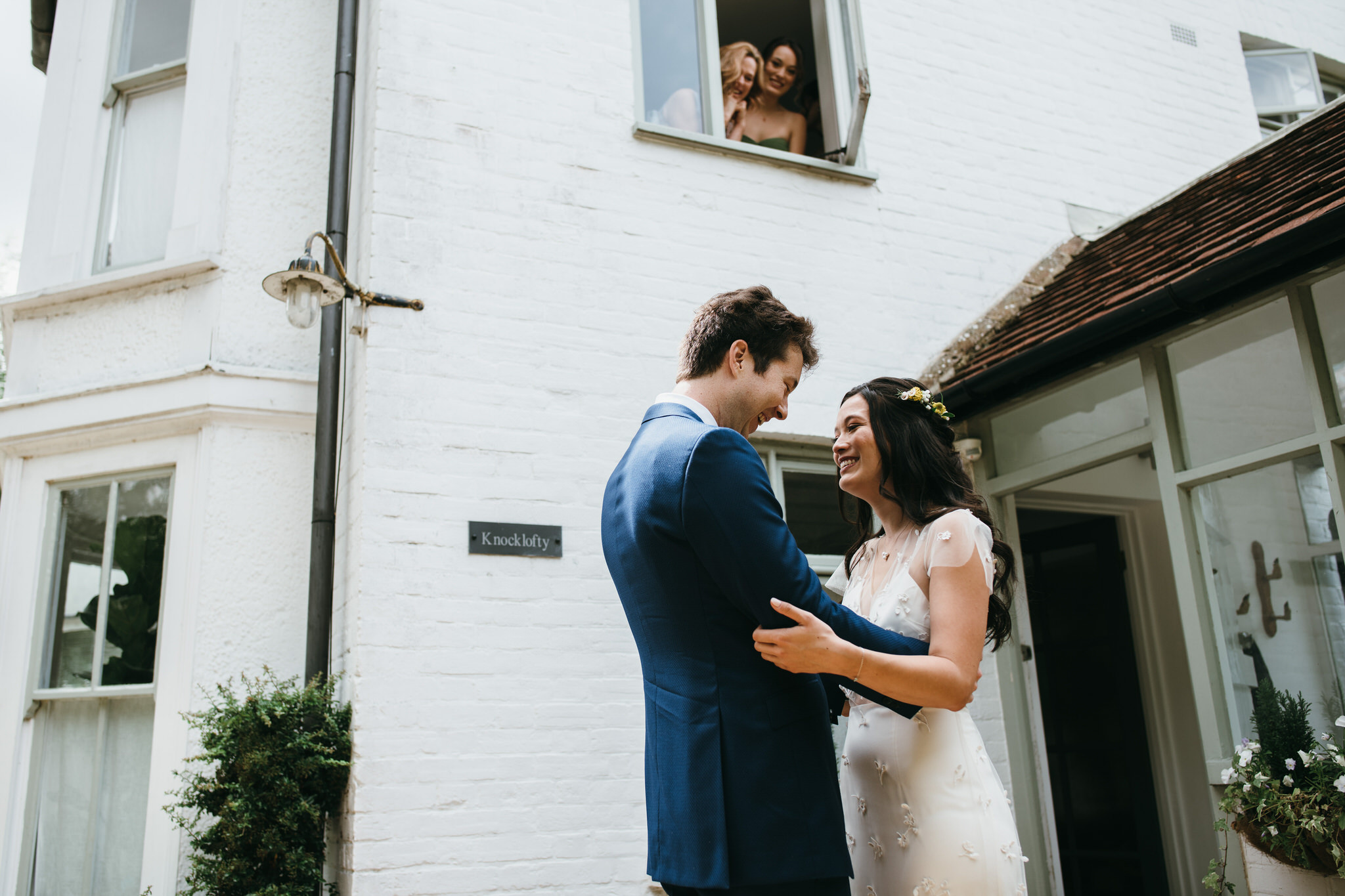 First look bride and groom - wedding photography