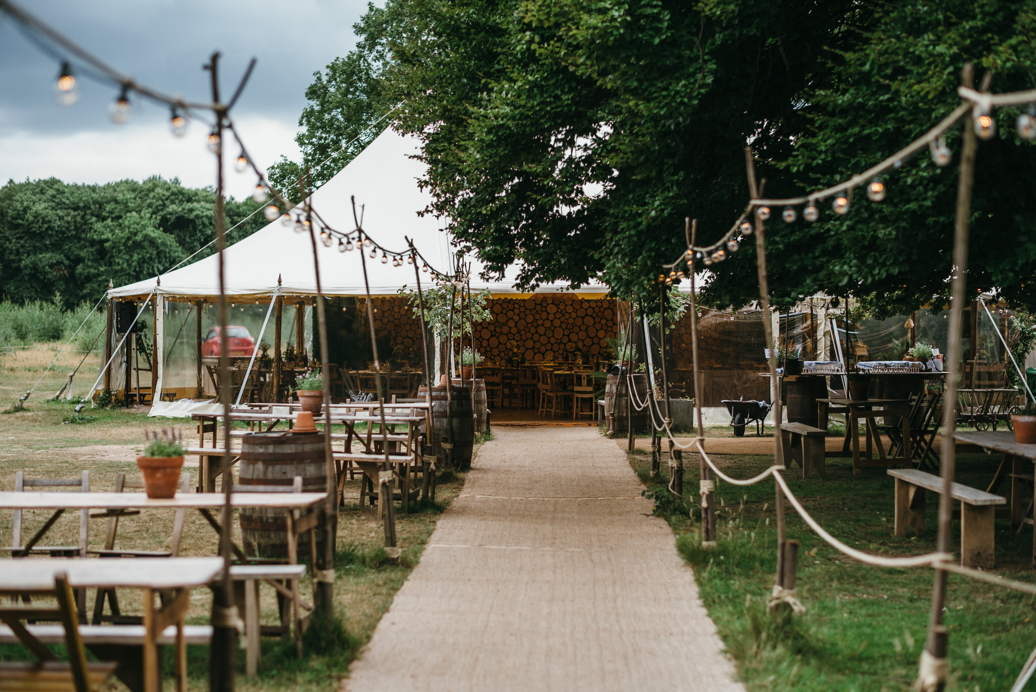 The dreys kent wedding marquee