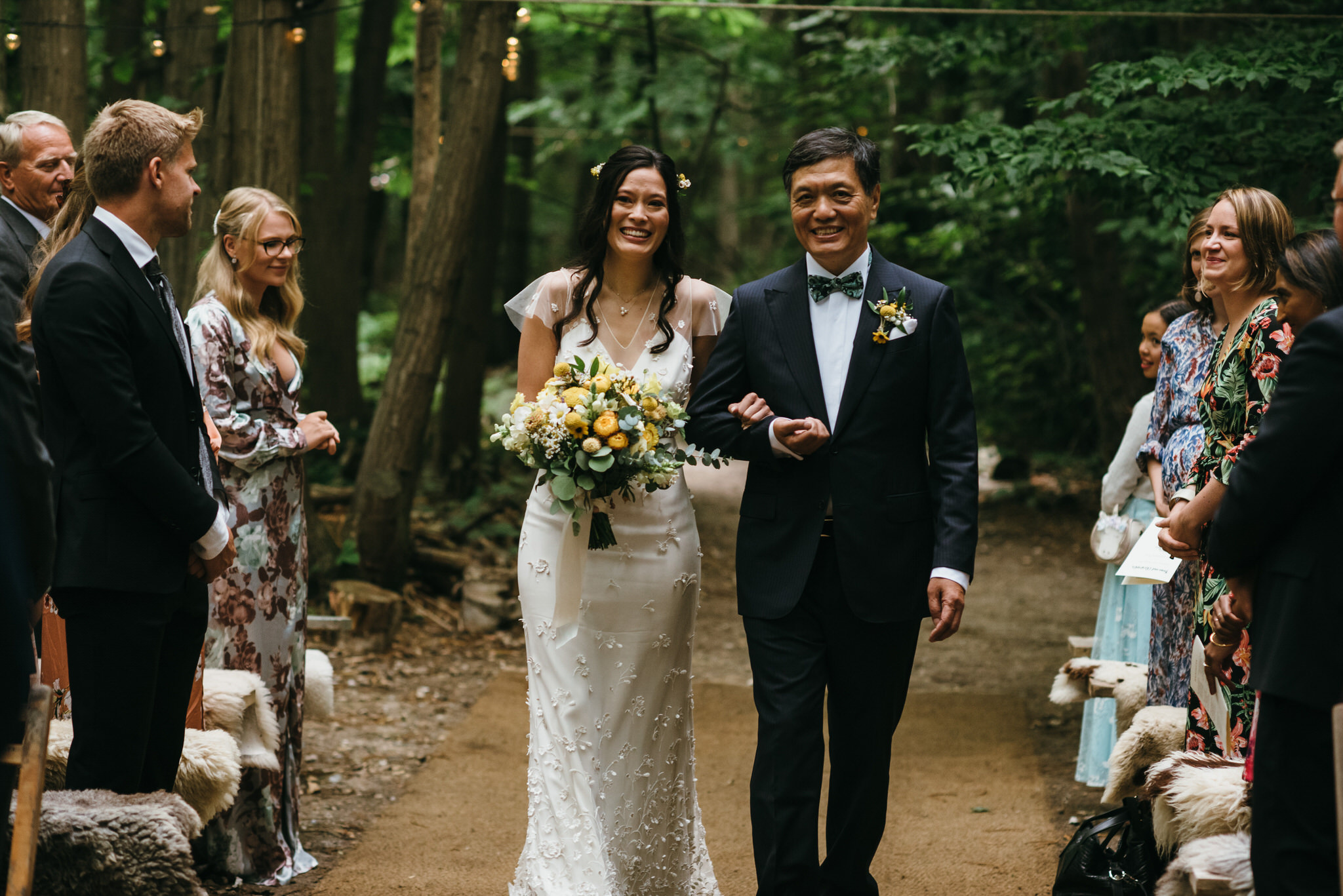 The dreys kent wedding ceremony in the woods