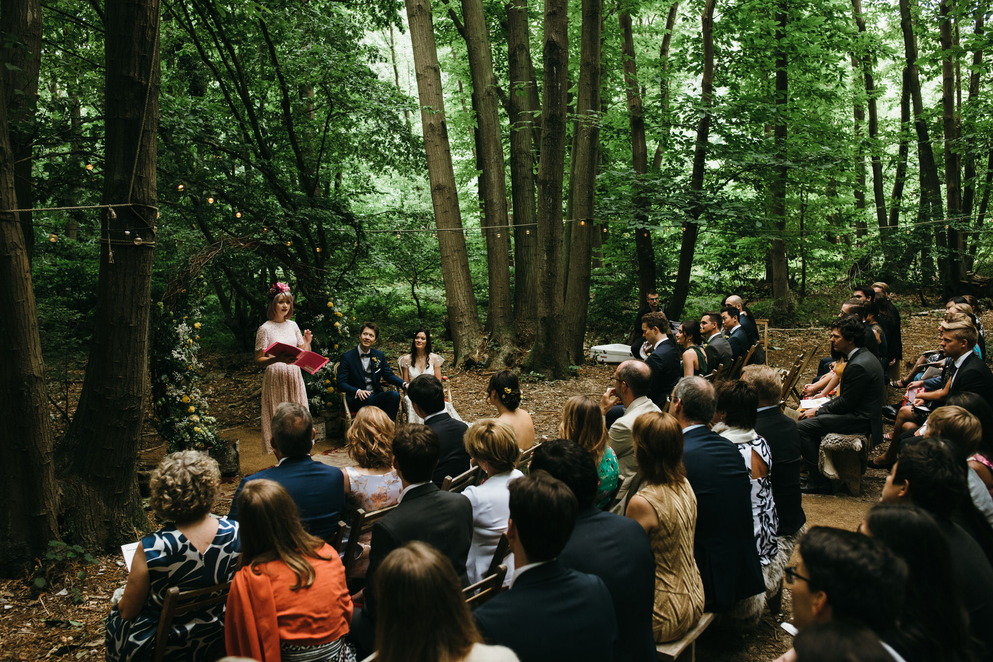 The dreys kent humanist wedding ceremony in the woods