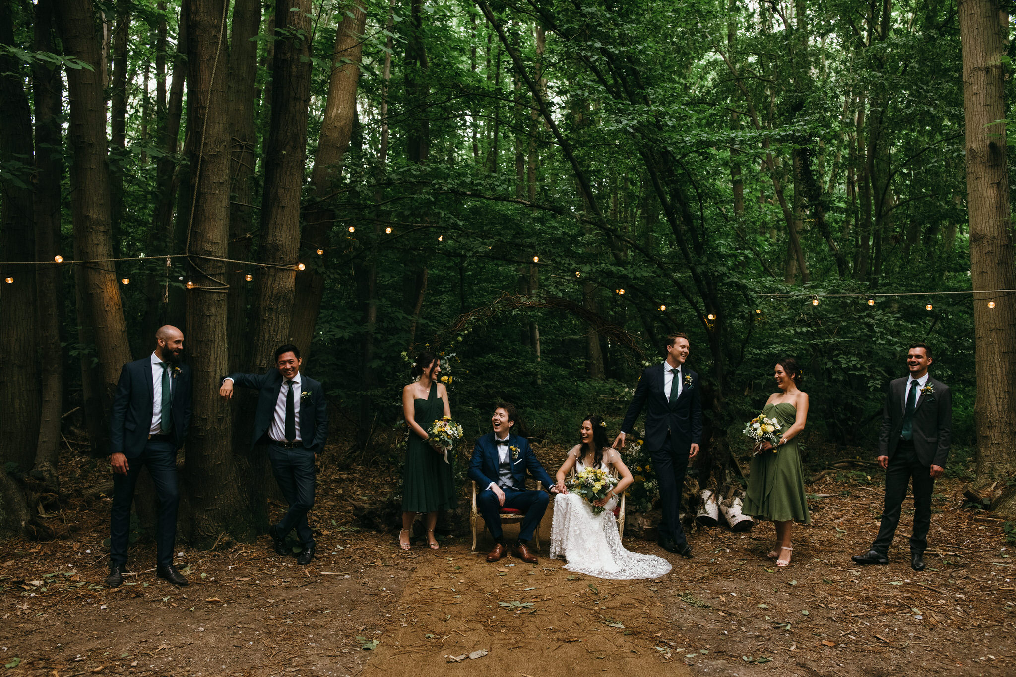 The dreys kent wedding photography - bridal party group