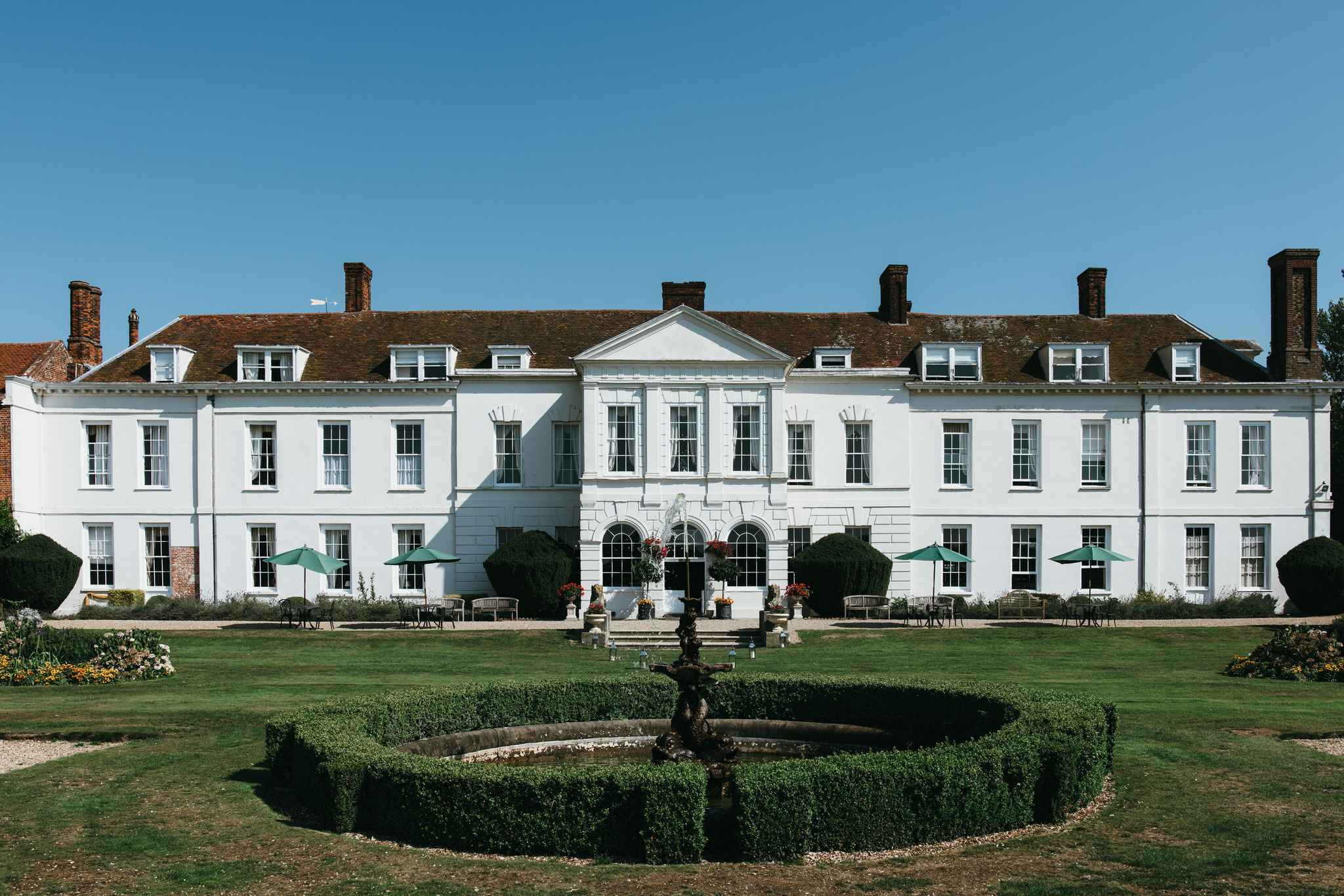 Gosfield hall from the outside