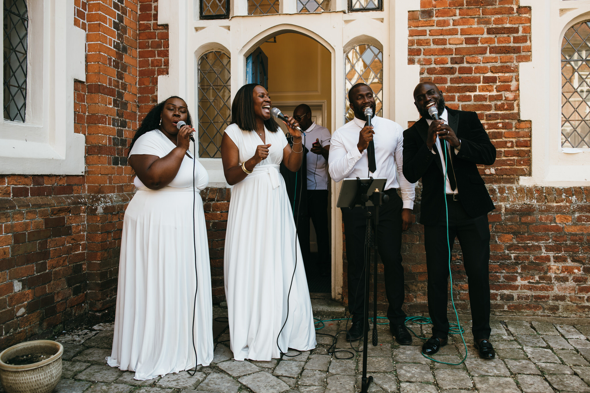 Gosfield hall and big gospel choir singers