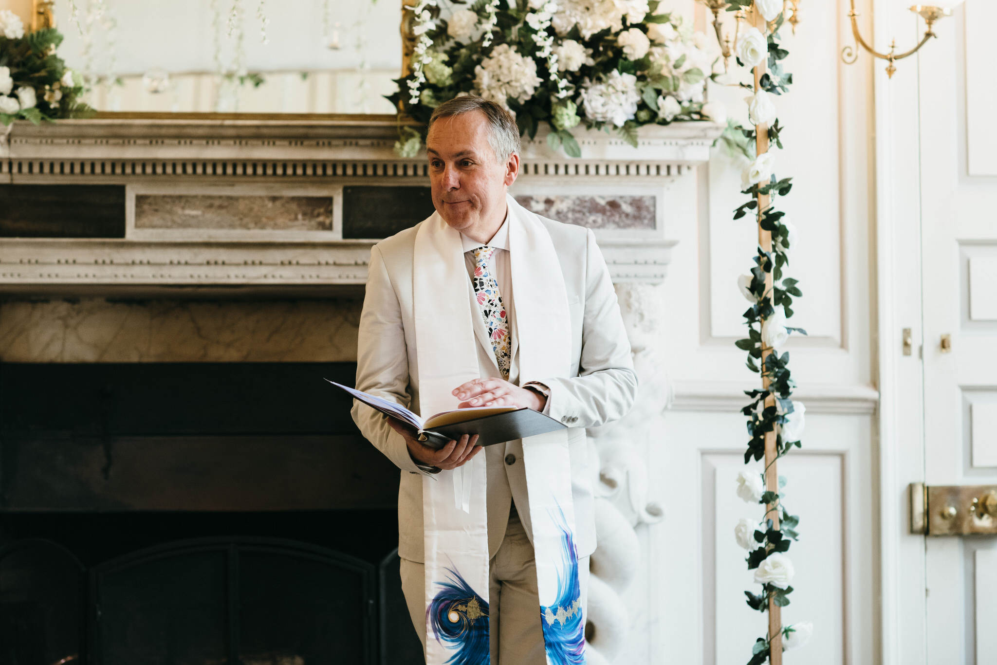 Interfaith wedding celebrant at Gosfield hall