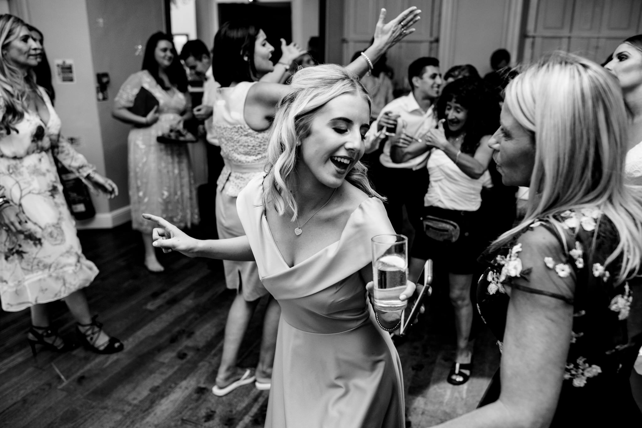 Dancing at Gosfield hall wedding