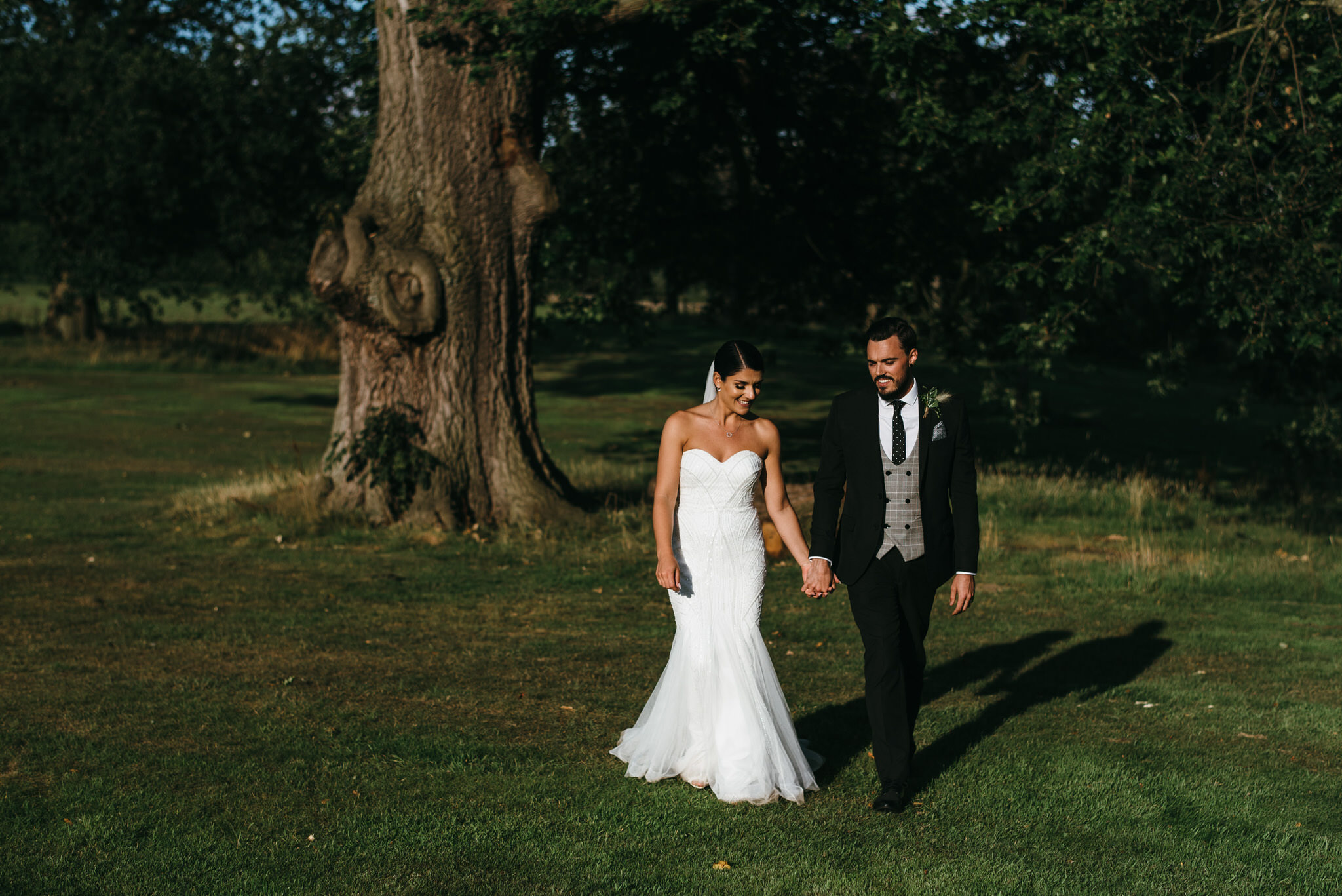Creative Cannon Hall wedding photographer