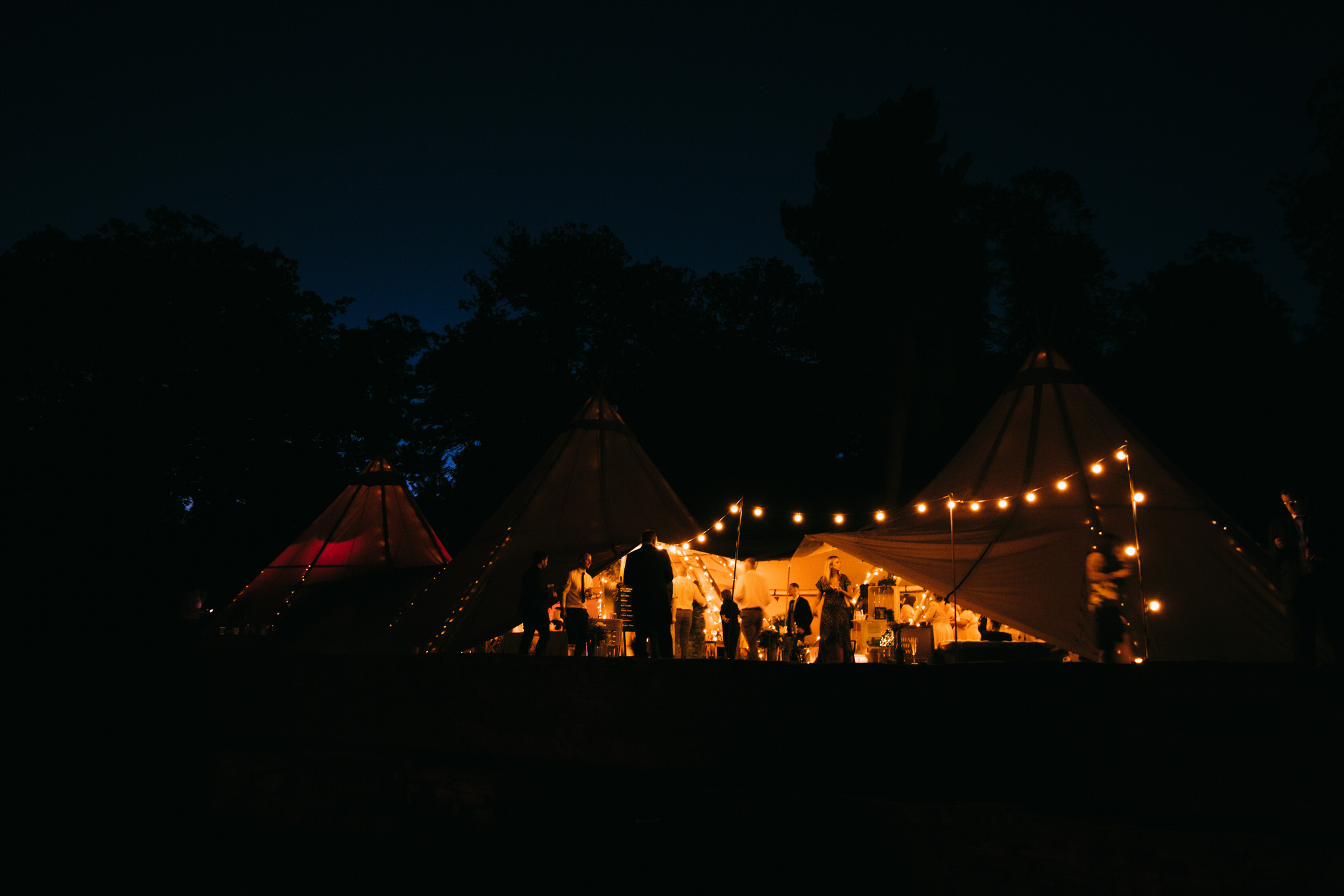 Cannon hall tipi at night