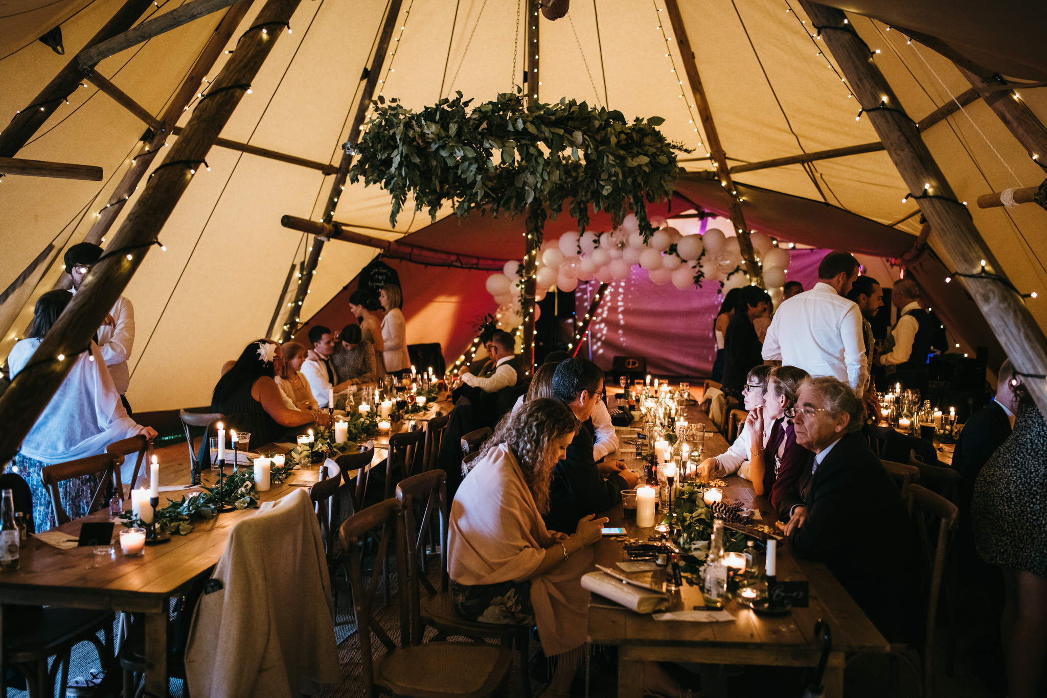 Cannon hall wedding in tipi tent