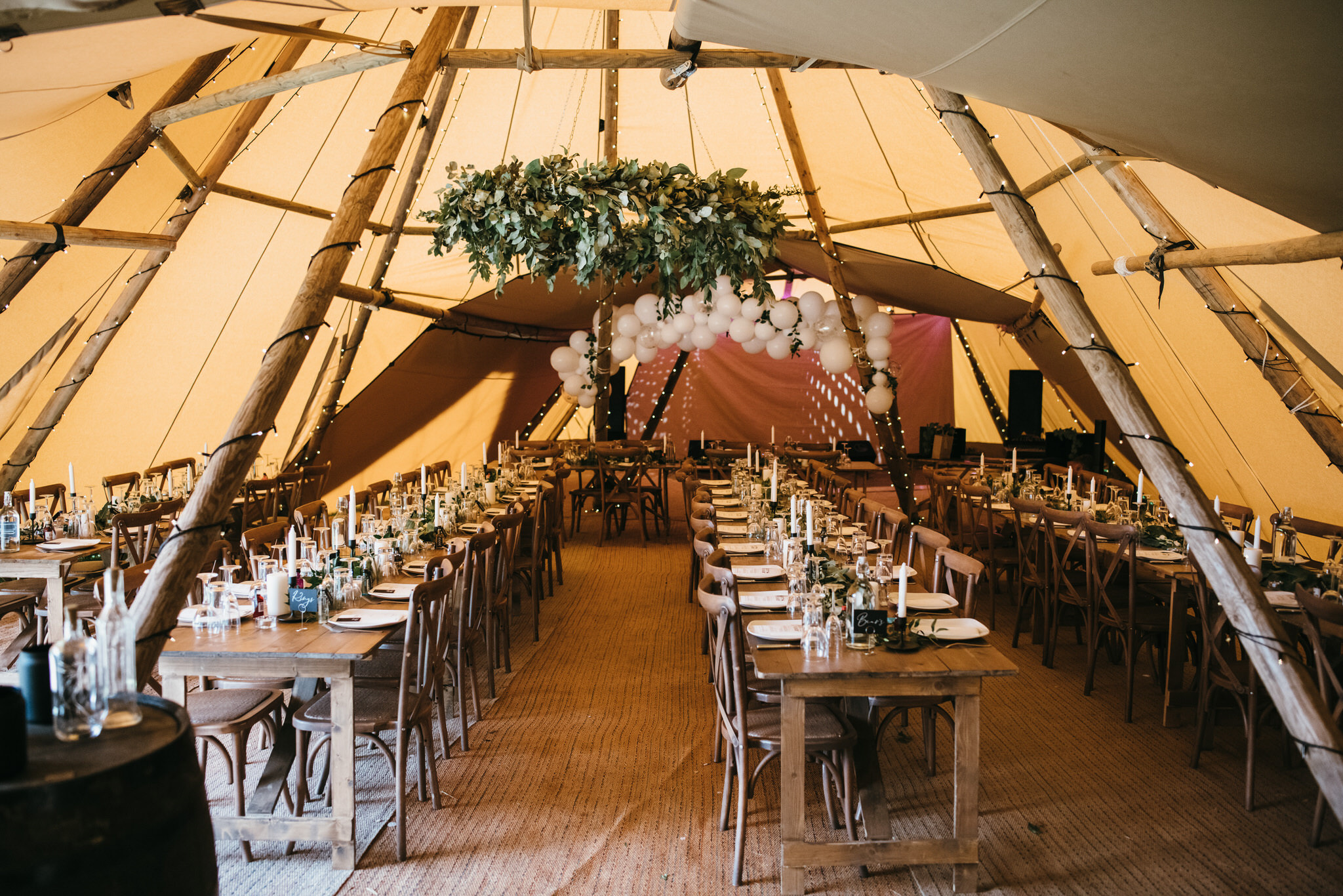 Tipi tent wedding